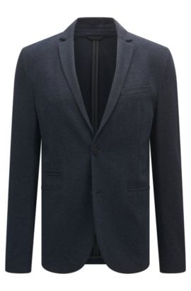 Stretch-fabric jacket in a slim fit, Dark Blue