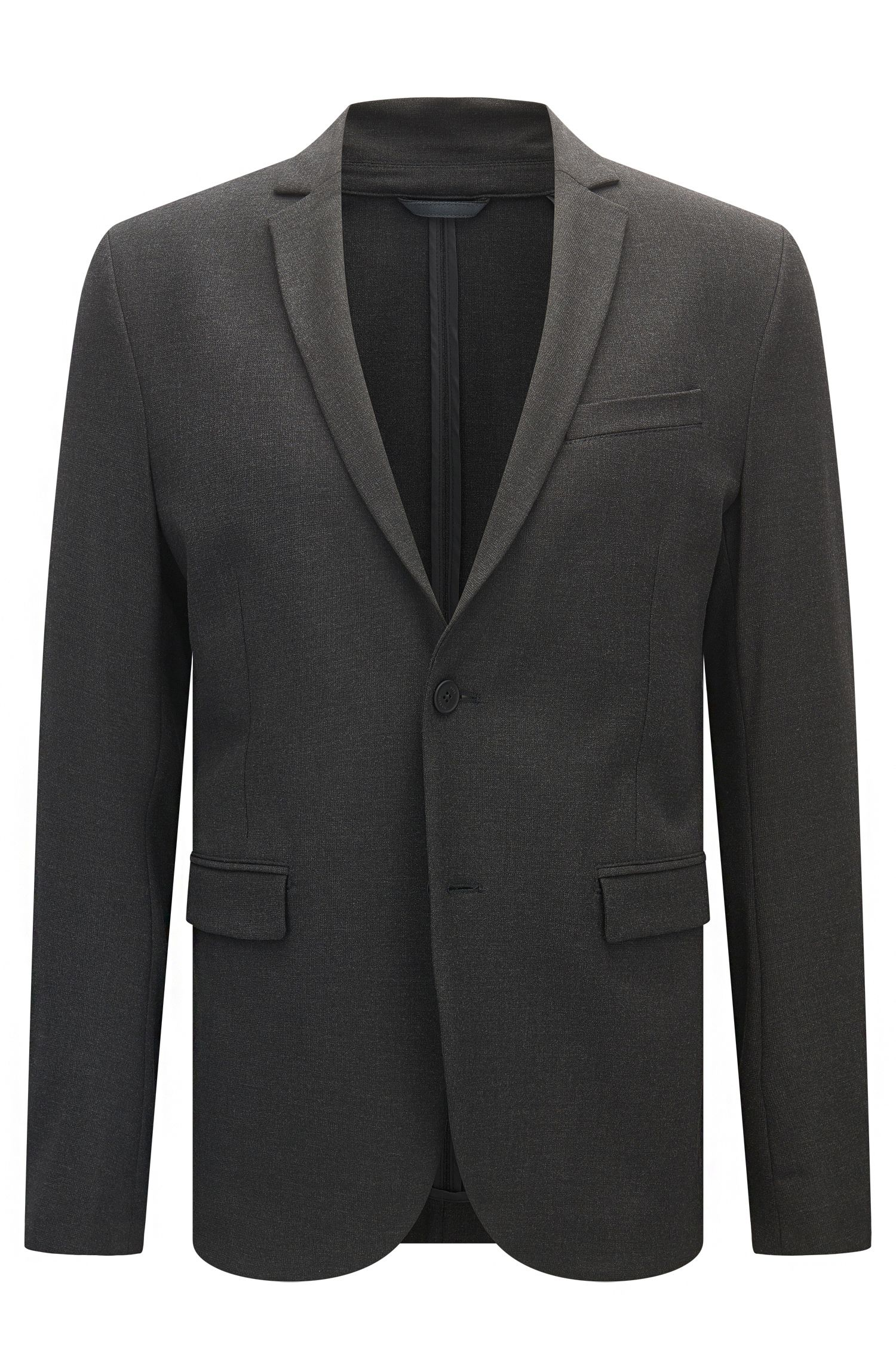 Slim-fit jacket in stretch fabric