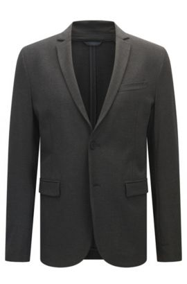 Veste Slim Fit en tissu stretch , Anthracite