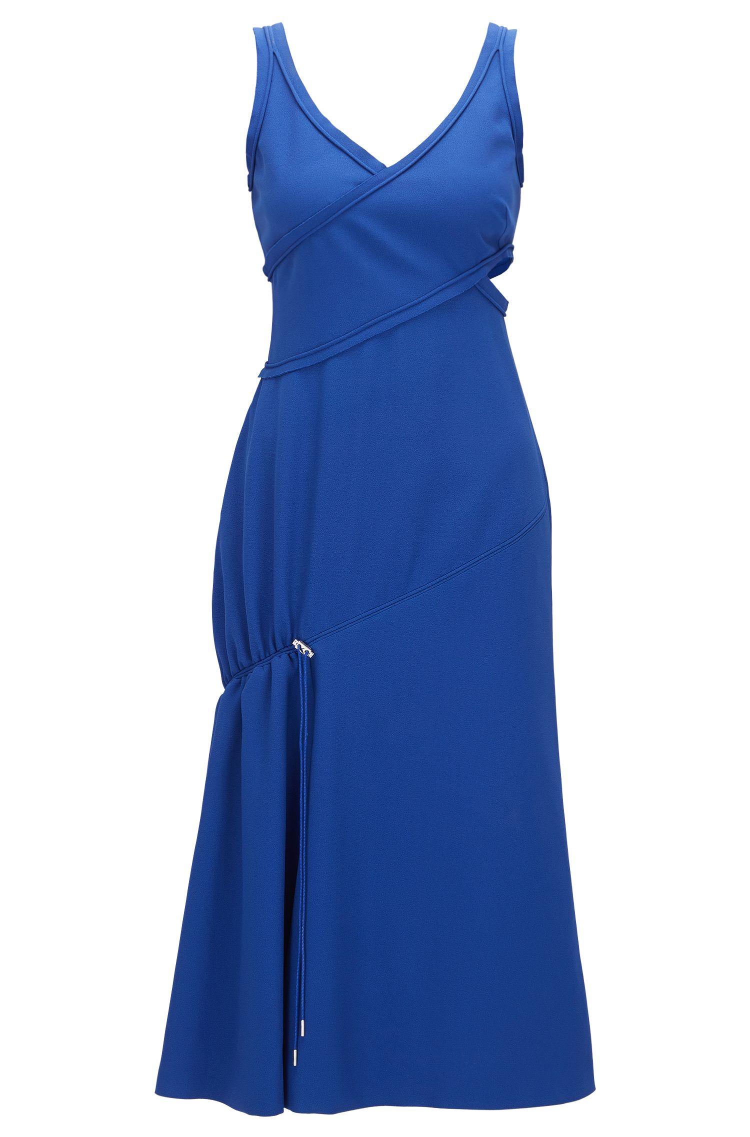 Vestido en edición especial para pasarela en mezcla de materiales con cordón decorativo: 'FS_Demania_C'