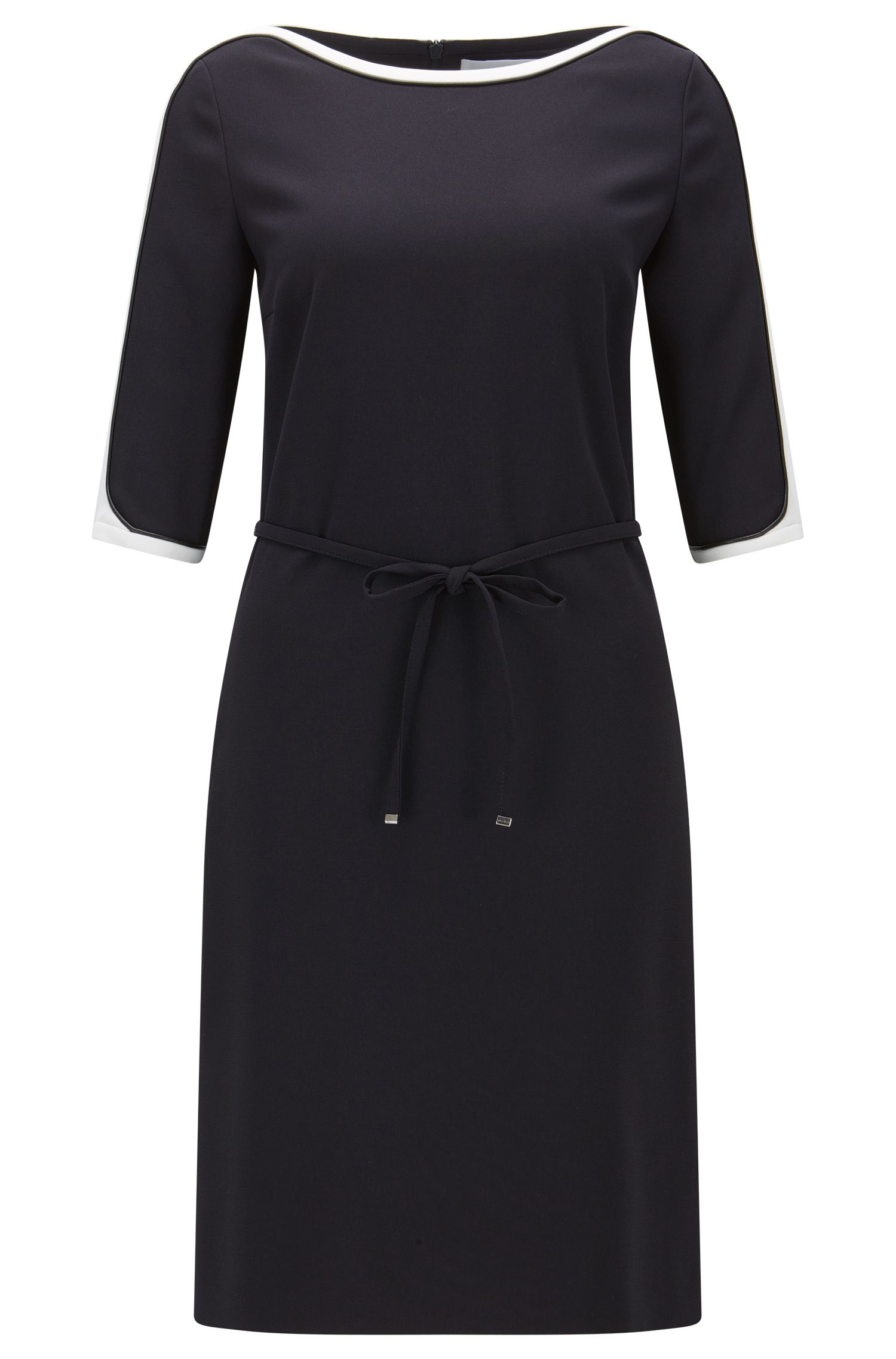 Relaxed-fit dress in technical crêpe