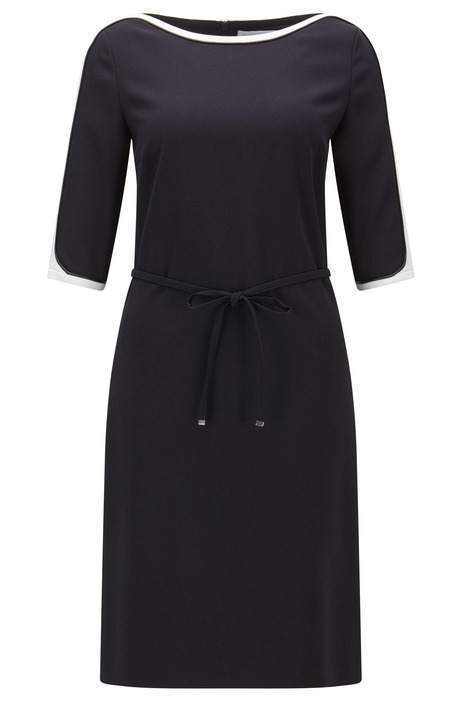 Relaxed-fit jurk van technisch crêpe