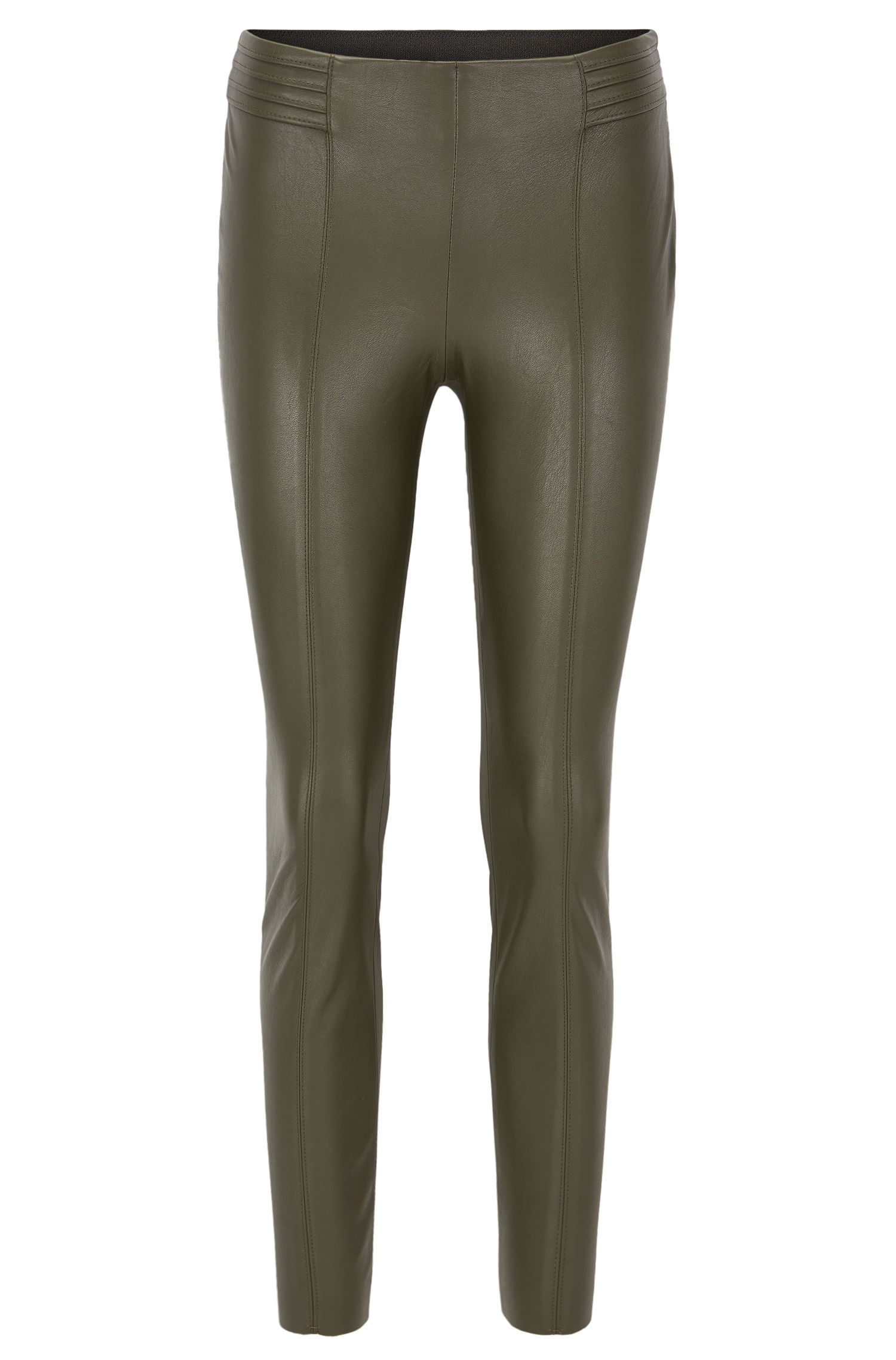 Slim-Fit-Hose aus Kunstleder