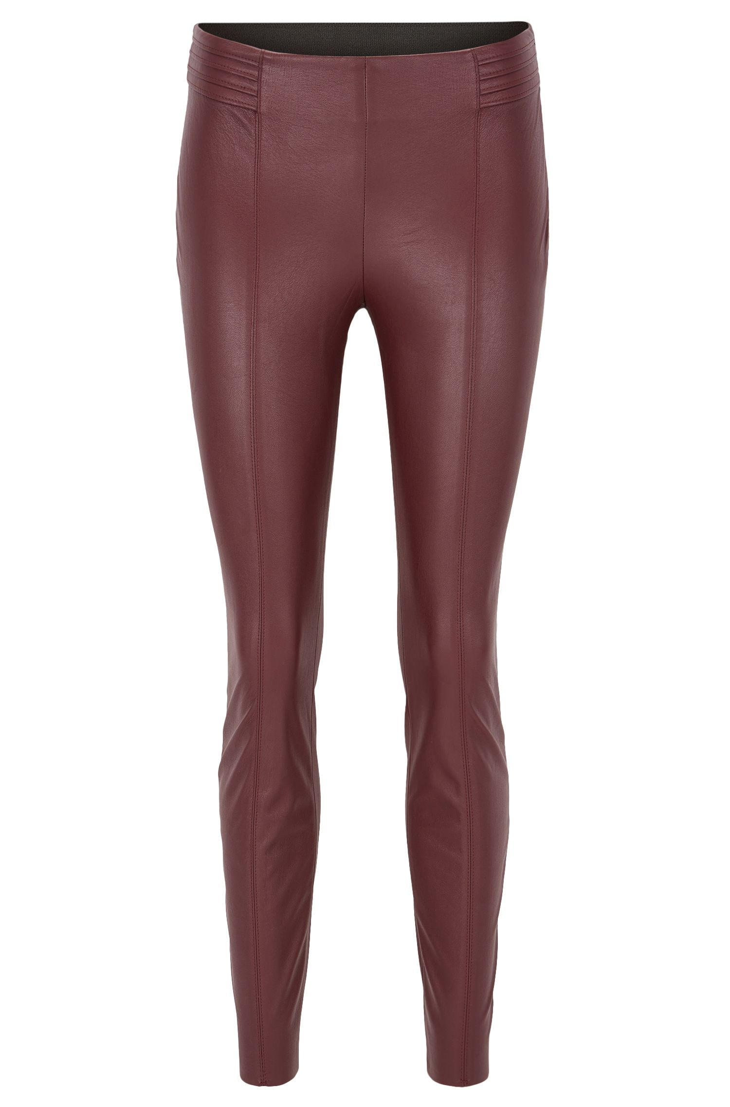 Slim-fit faux-leather trousers
