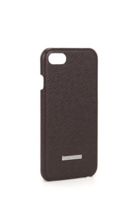 Signature Collection smartphone case in palmellato leather, Dark Red