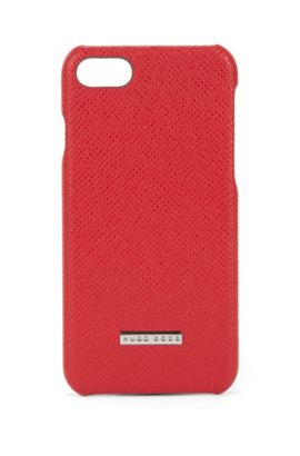 Signature Collection smartphone case in palmellato leather, Red