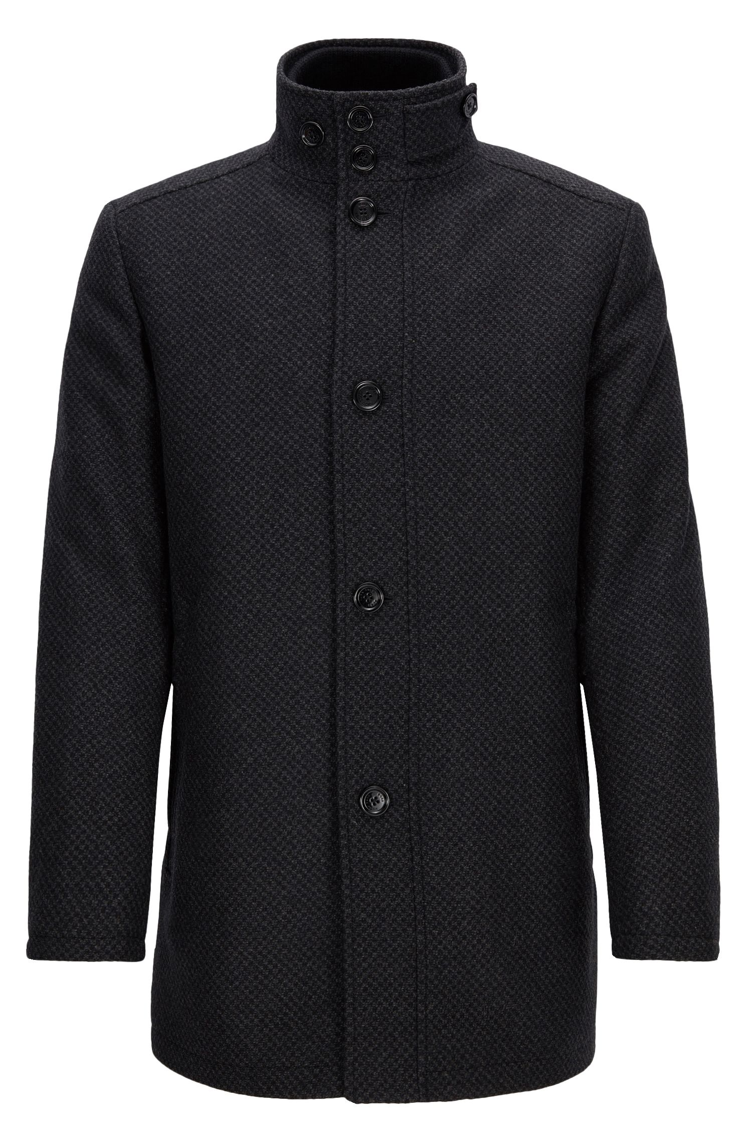Wave-blocker coat in a wool blend