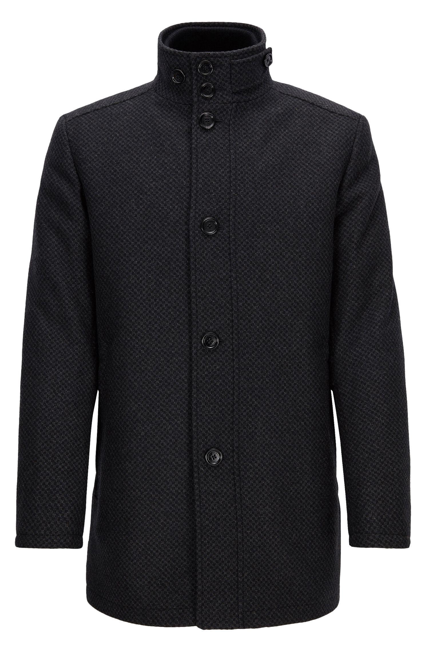 Manteau anti-ondes électromagnétiques en laine mélangée