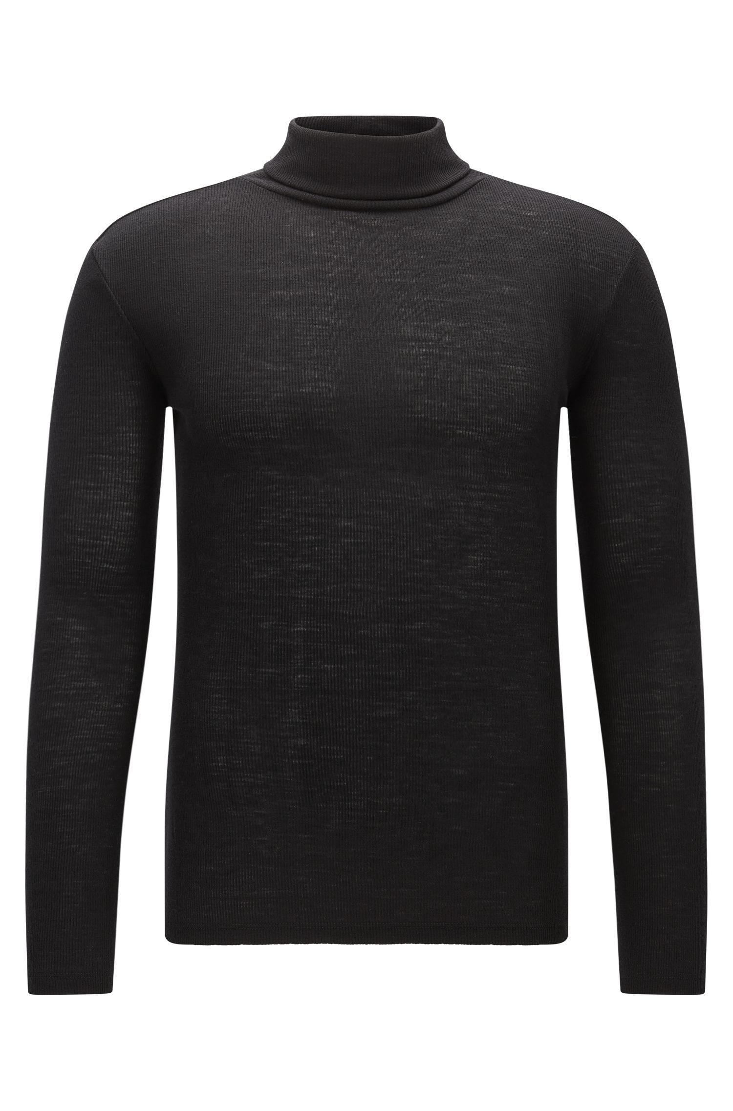 Jersey con cuello alto en pura lana