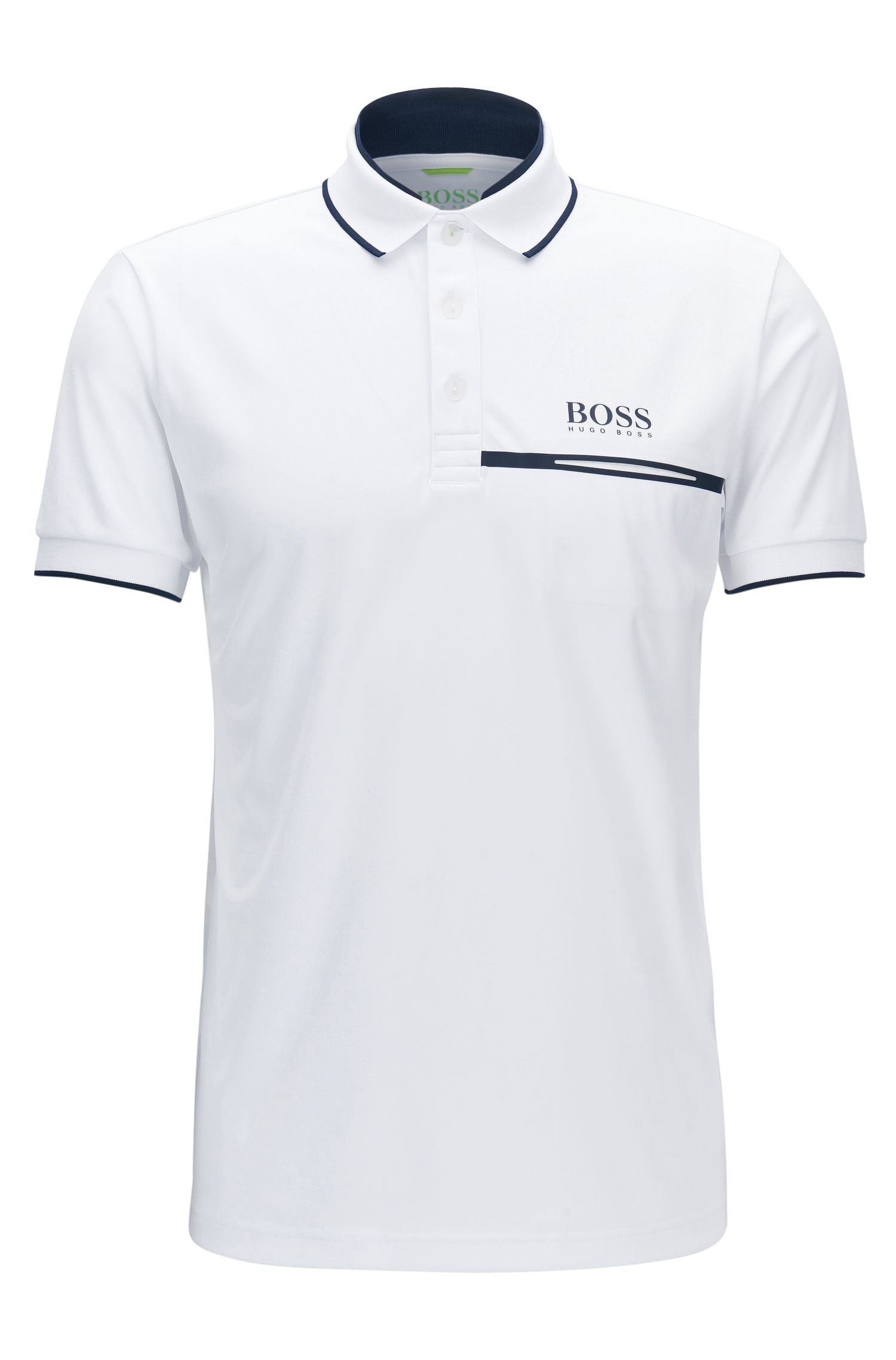 Regular-fit polo shirt in technical piqué