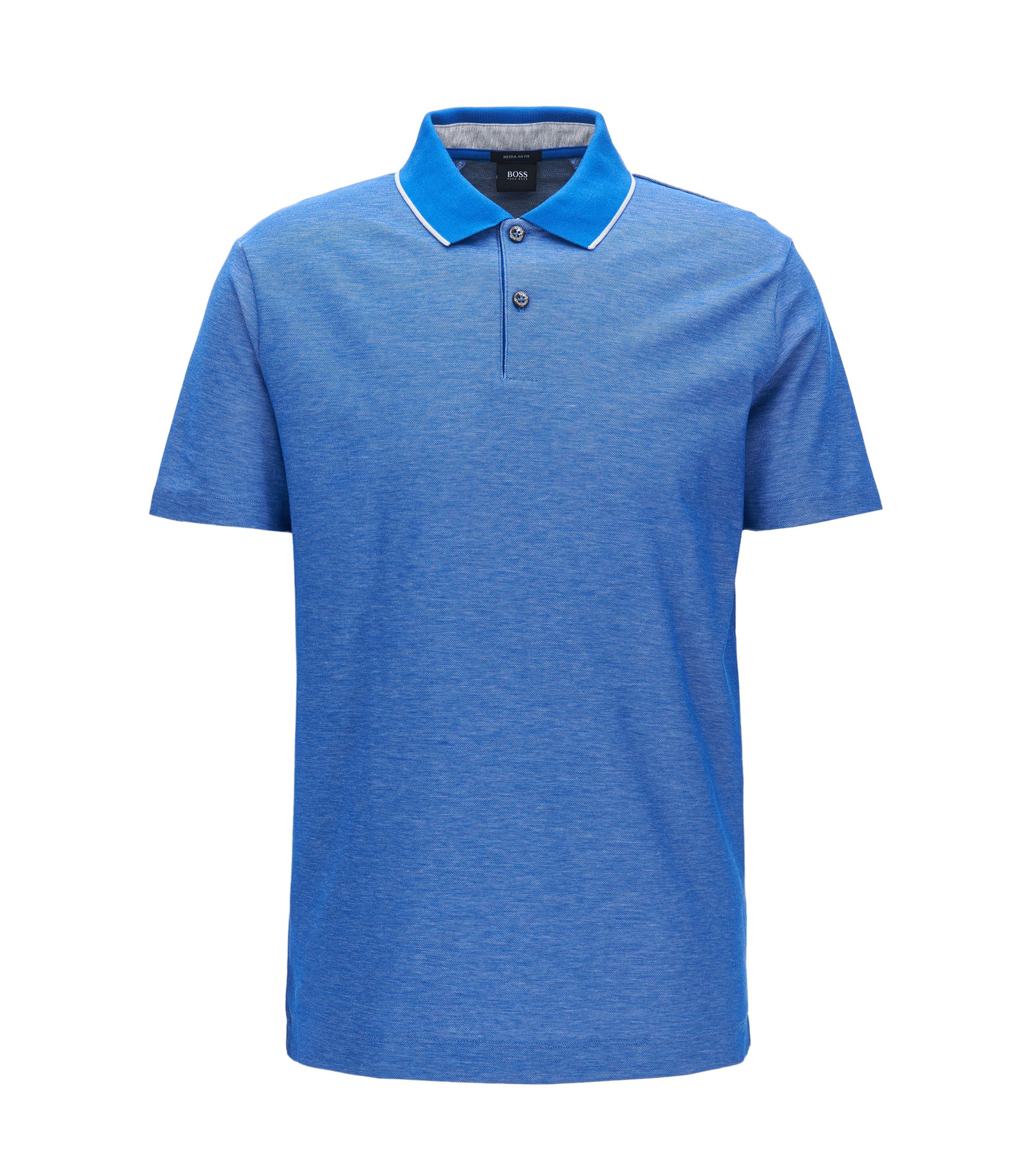 Regular-Fit Poloshirt aus Baumwolle, Blau