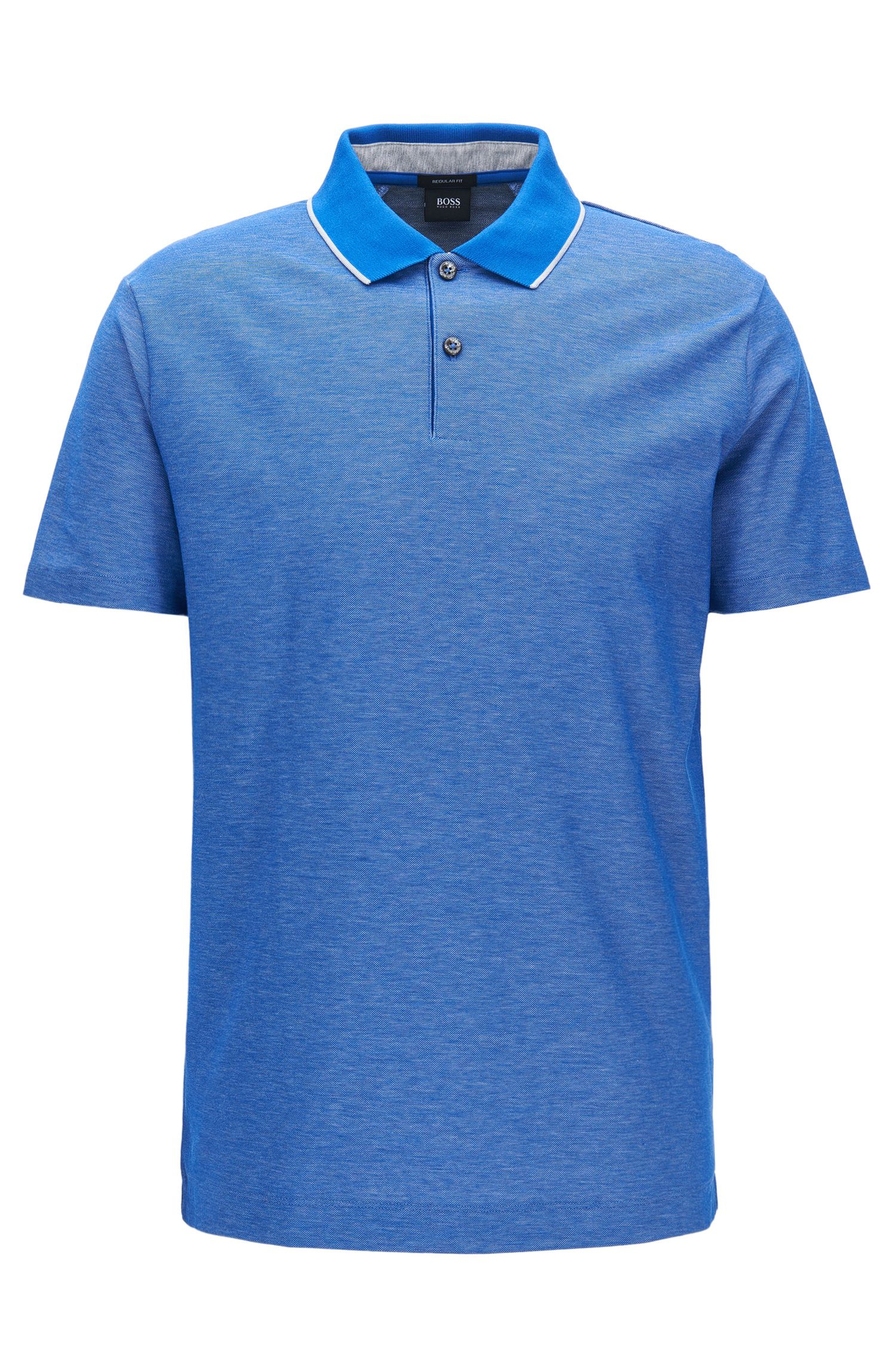 Regular-Fit-Poloshirt aus Baumwolle
