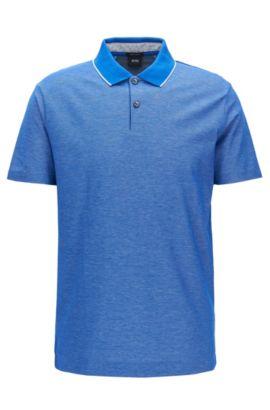 Polo Regular Fit en coton, Bleu