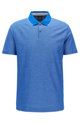 Polo Regular Fit en coton, Bleu