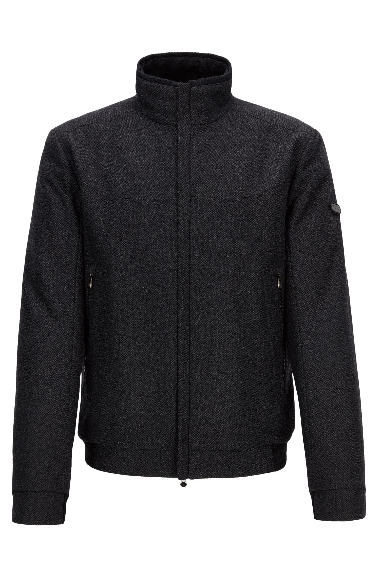 Regular-fit jacket in a wool blend