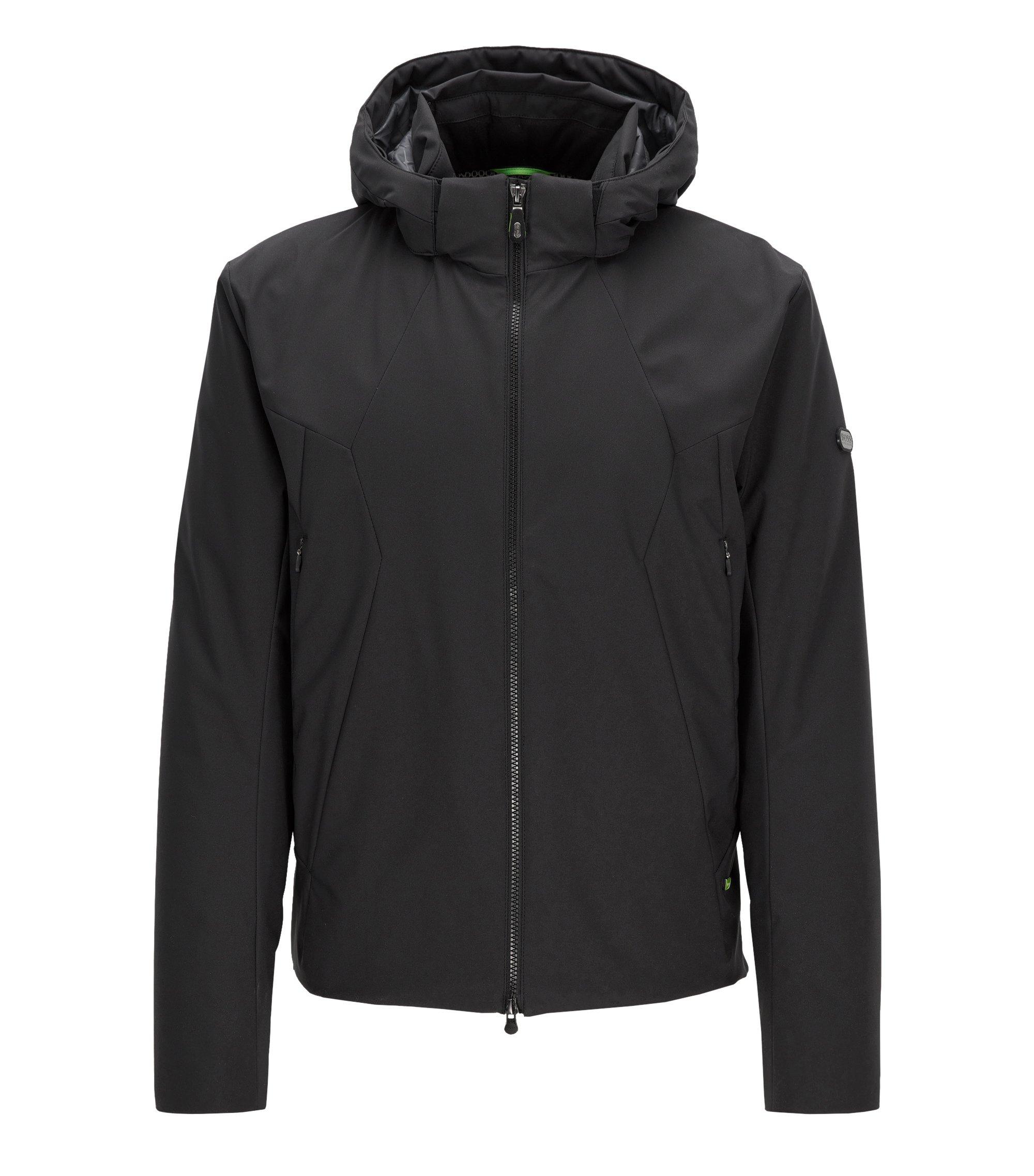 Regular-fit jas van waterafstotend materiaal, Zwart