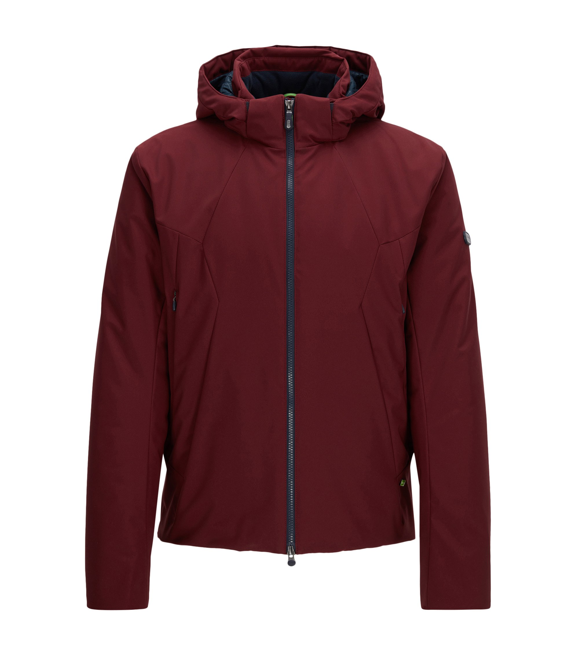 Regular-fit jas van waterafstotend materiaal, Donkerrood