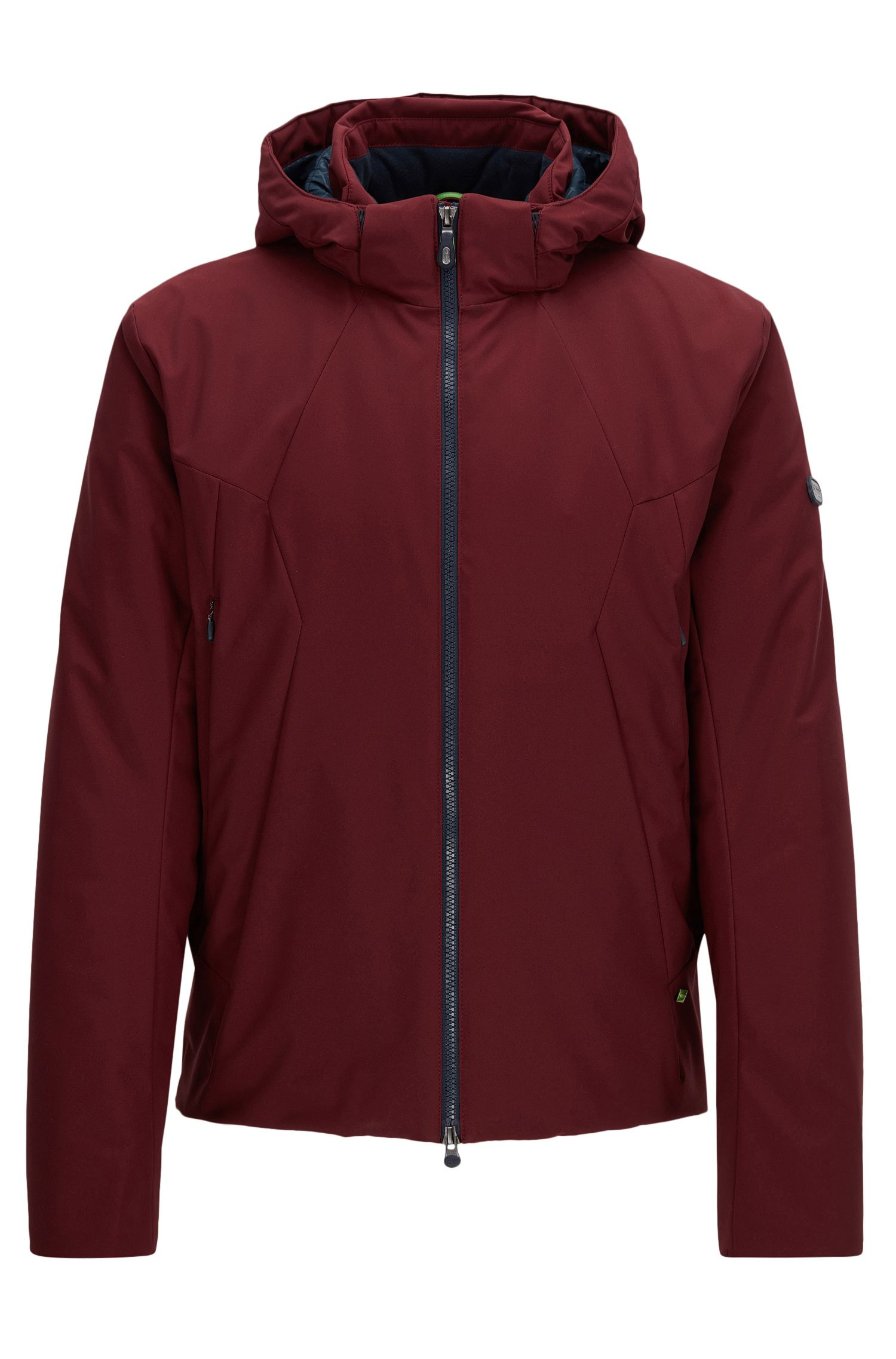 Regular-fit jacket in water-repellent fabric