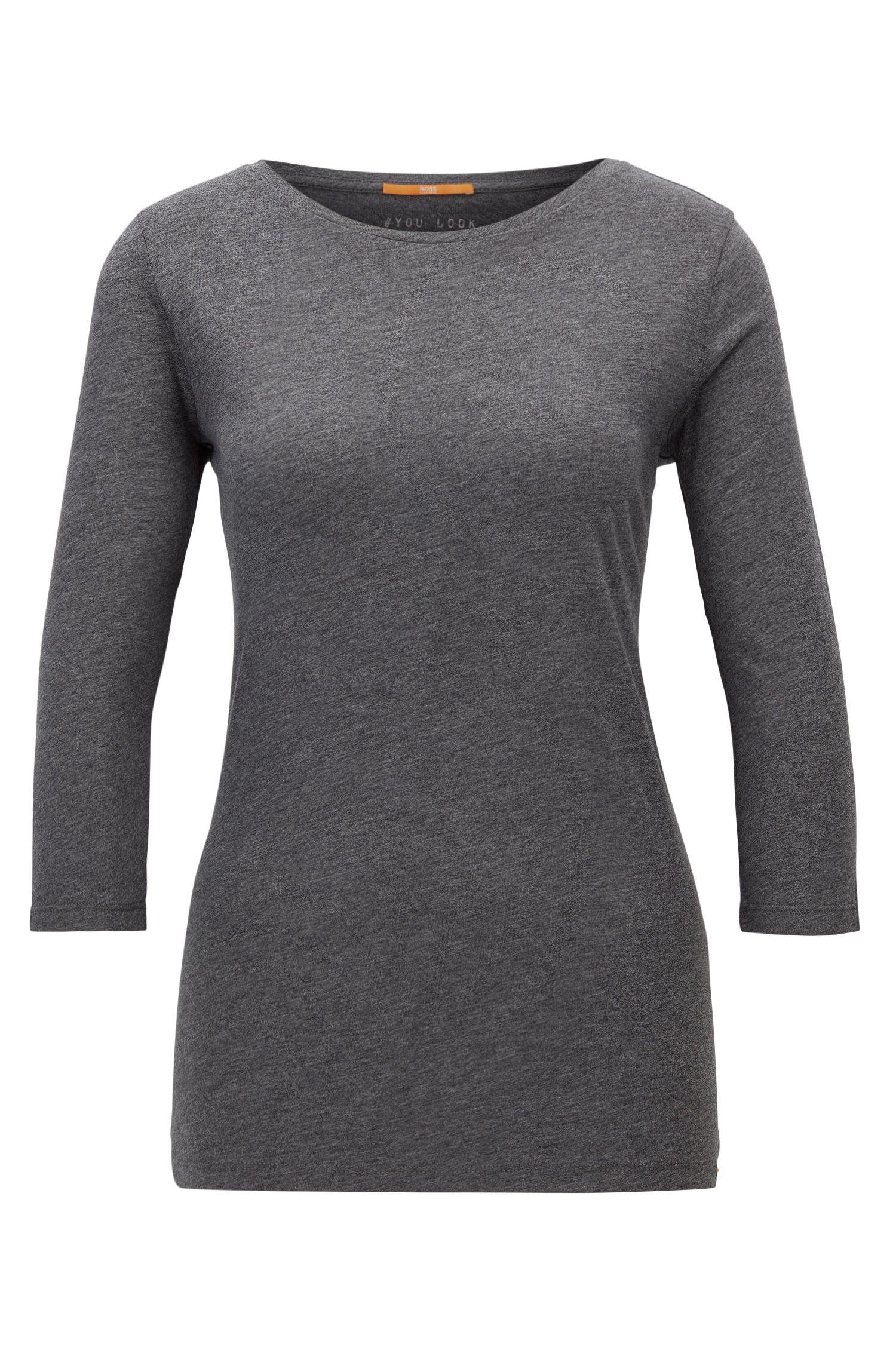 T-shirt Slim Fit en coton mélangé