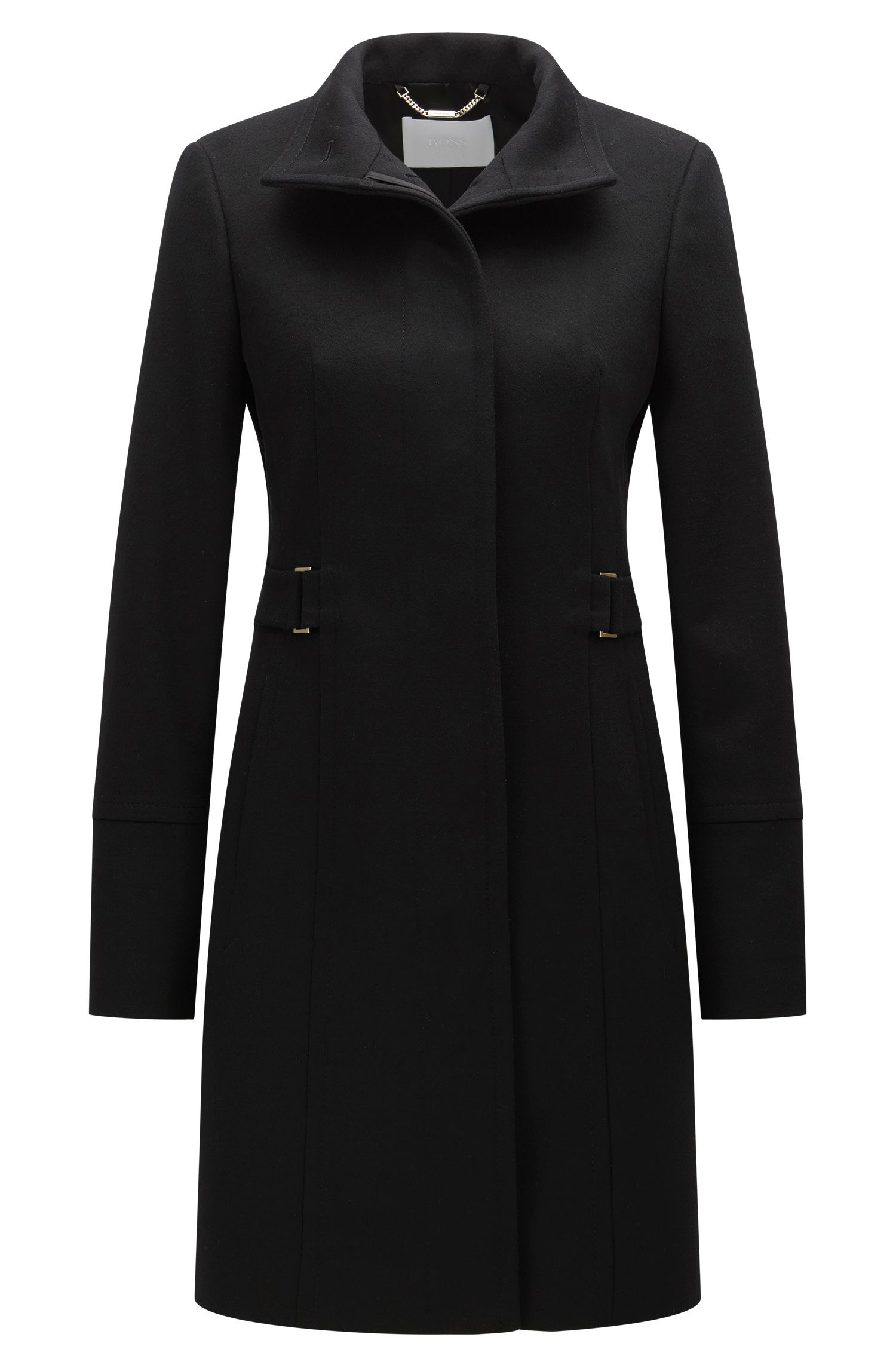 Regular-fit overcoat in wool and cashmere