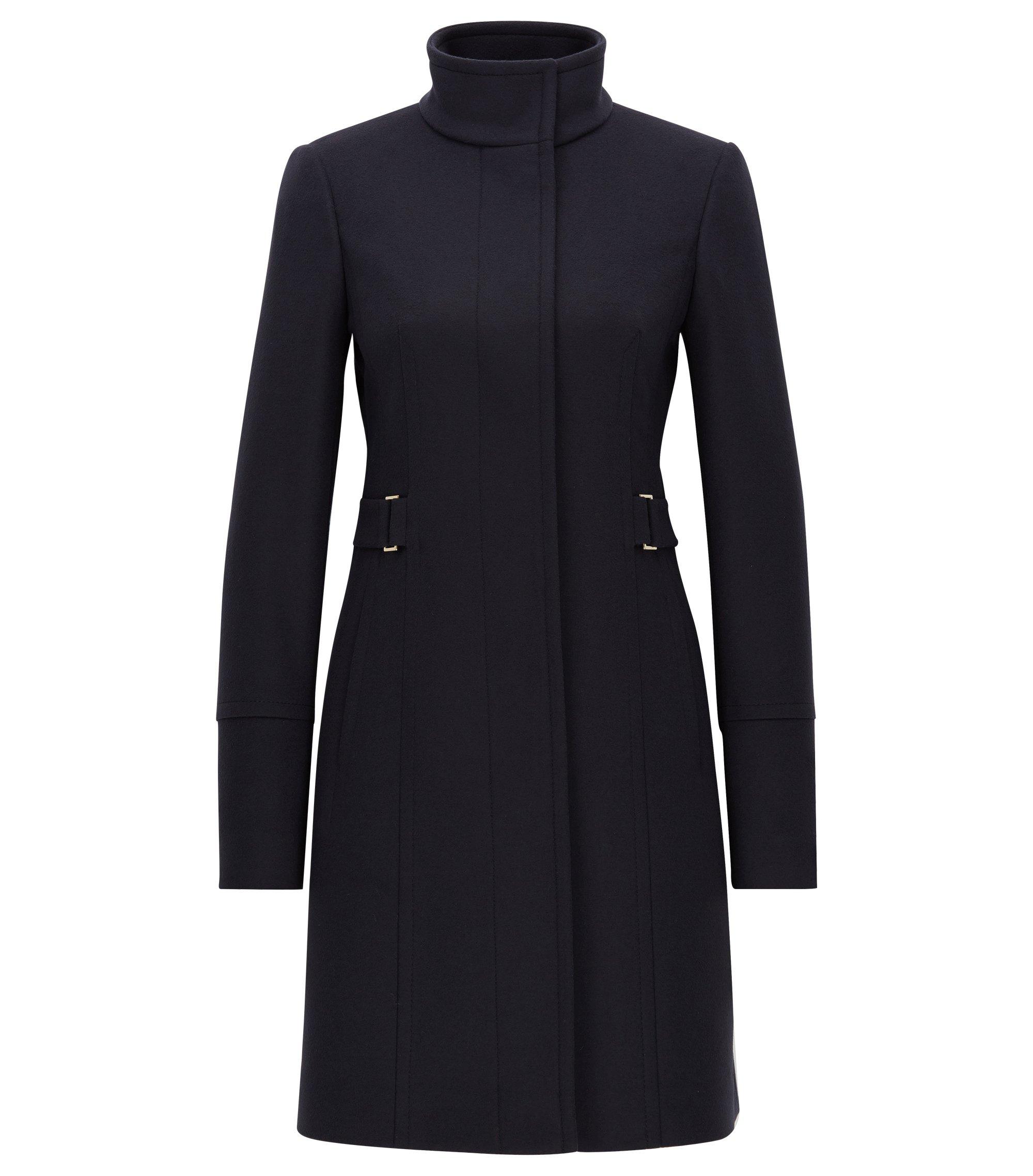 Regular-fit mantel van wol en kasjmier, Donkerblauw