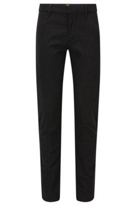 Slim-Fit Hose aus elastischem Baumwoll-Mix, Schwarz