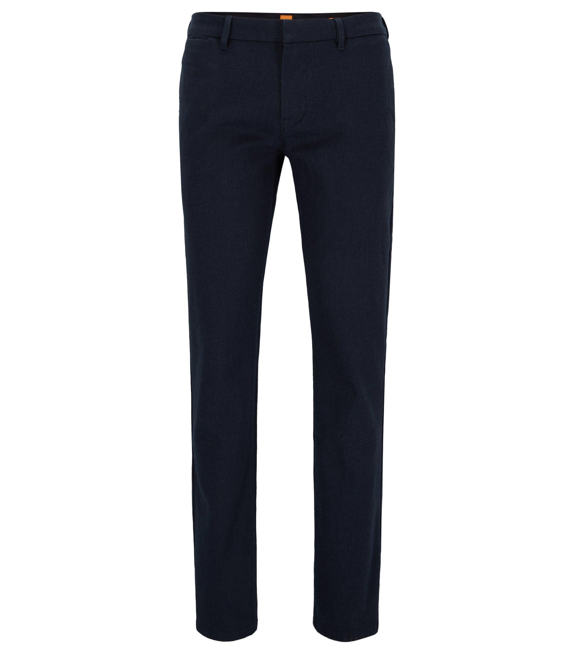 Slim-fit broek van een katoenmix, Donkerblauw