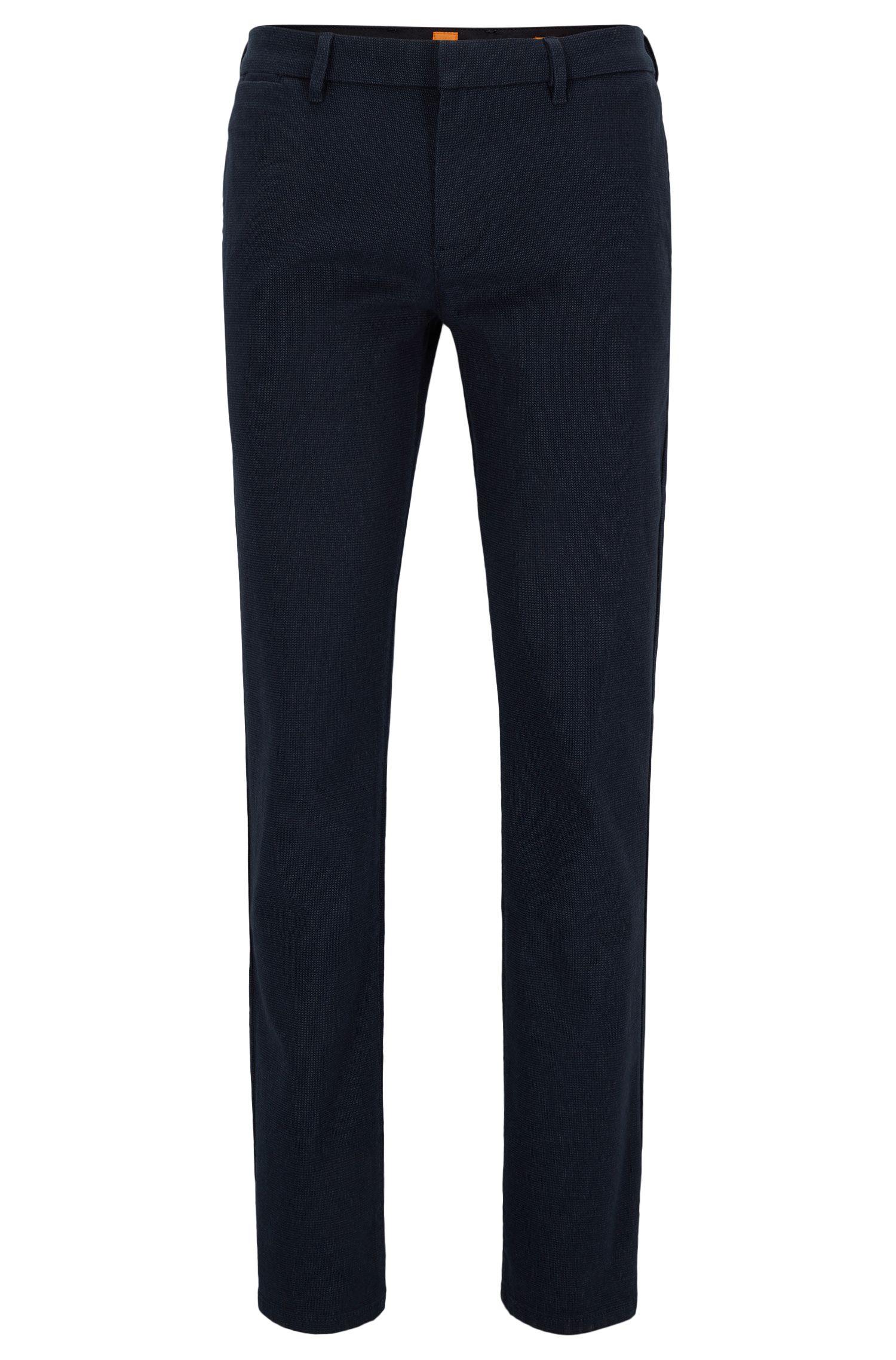 Pantalones slim fit en mezcla de algodón