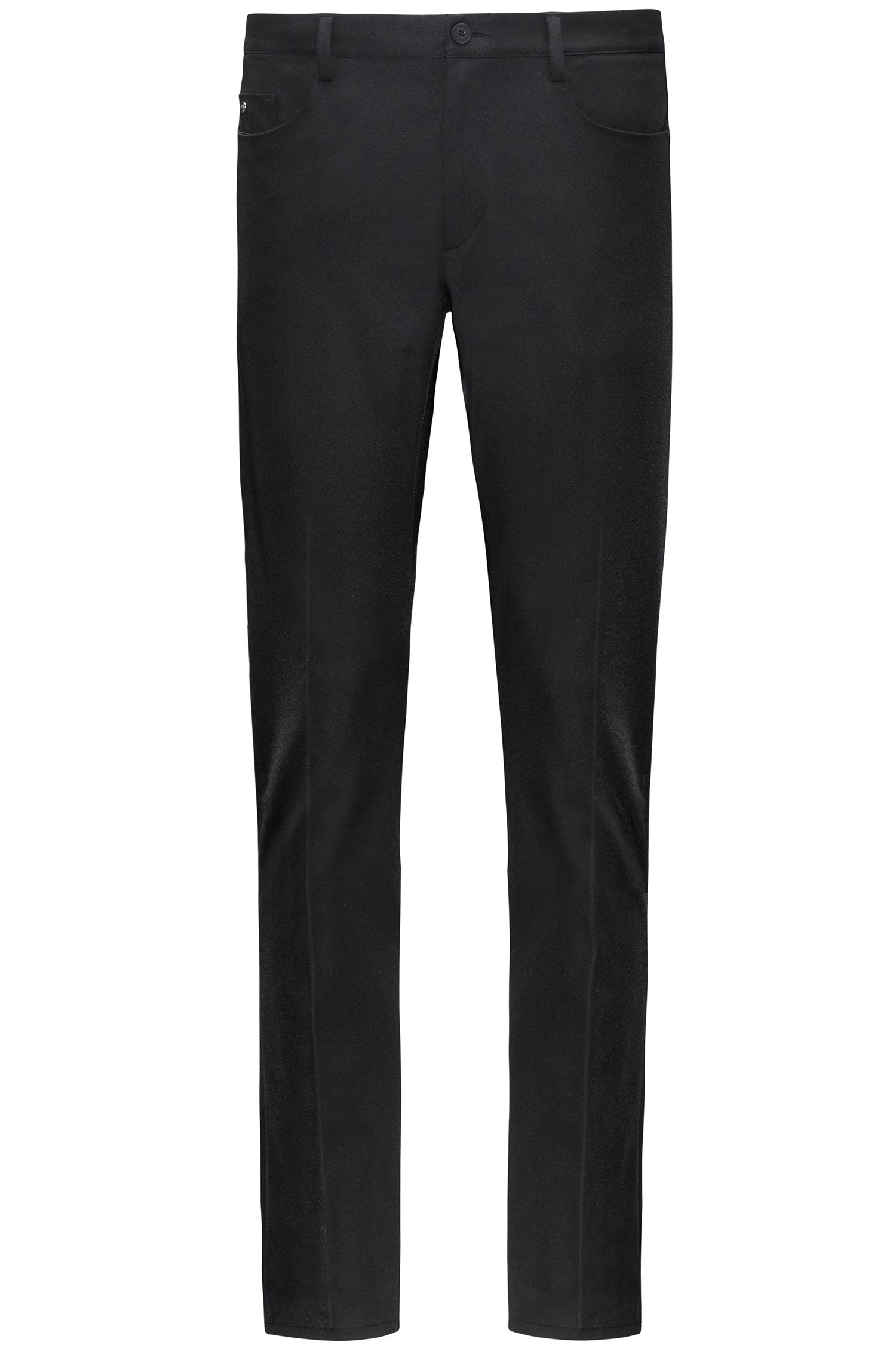 Tapered-fit trousers in water-repellent gabardine