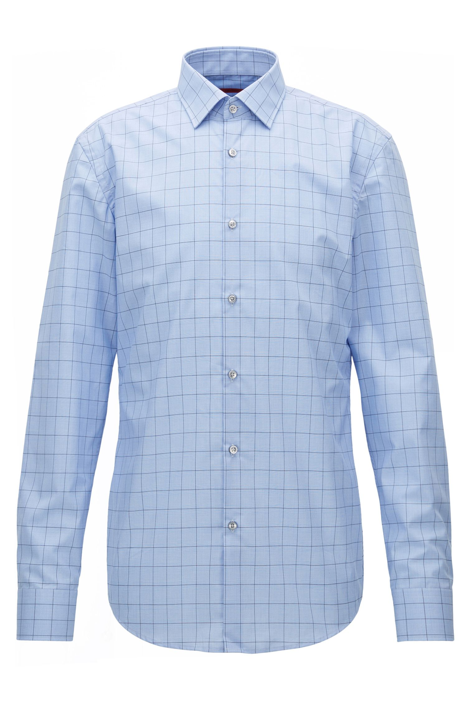 Graph check cotton shirt in a slim fit