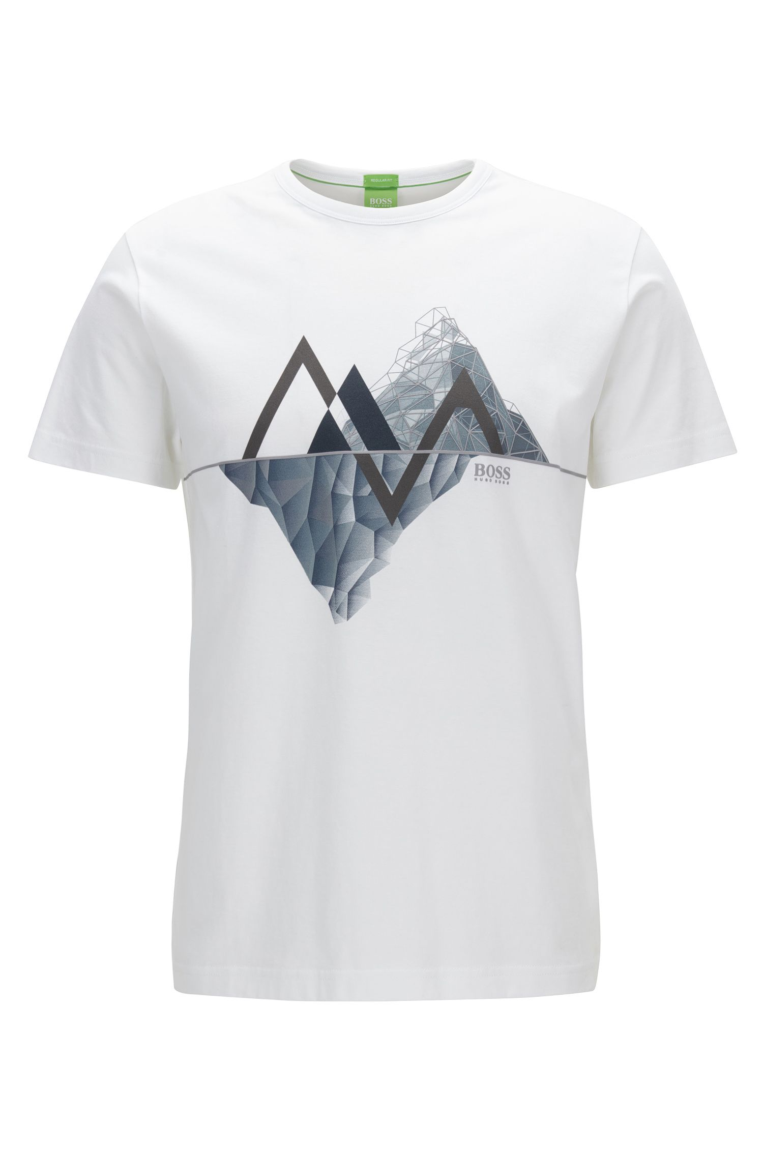 Graphic-print cotton jersey T-shirt in a regular fit