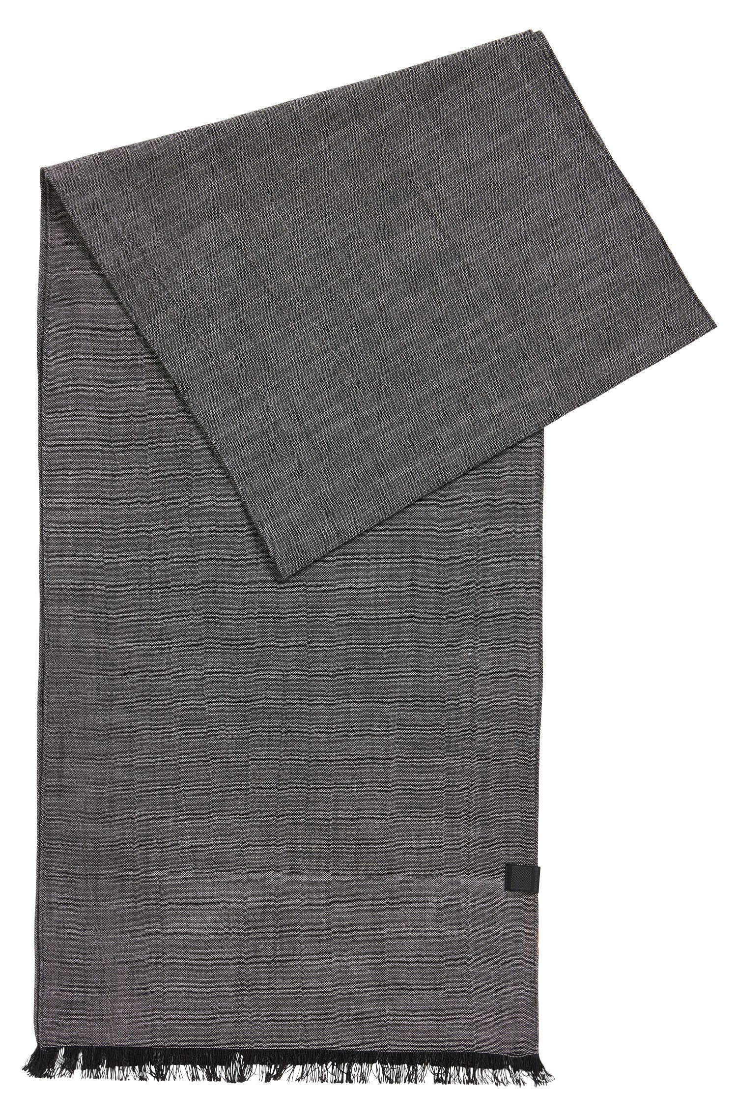 Baumwollschal mit gewebter Logo-Applikation