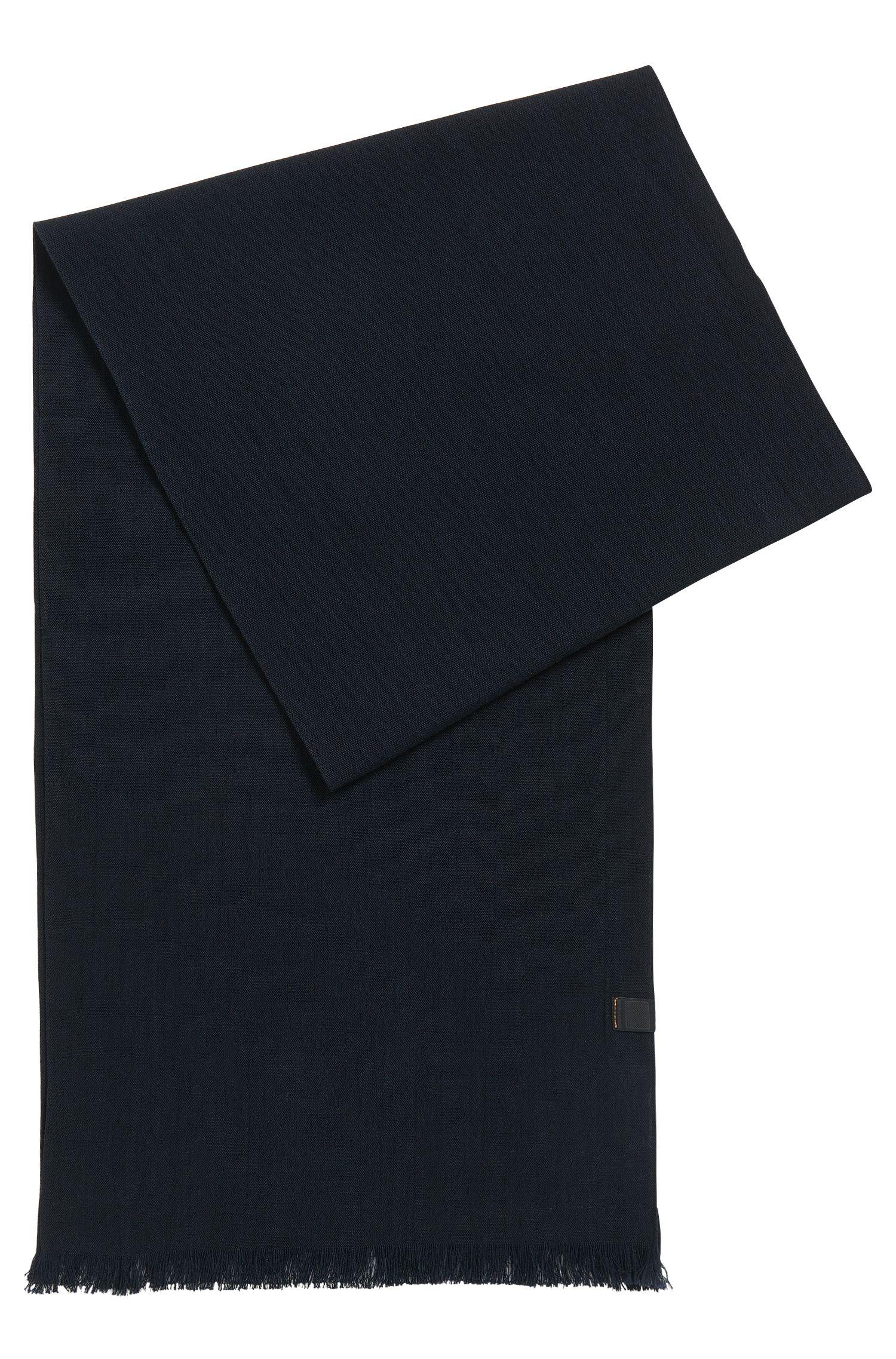 Bufanda de algodón con logo tejido