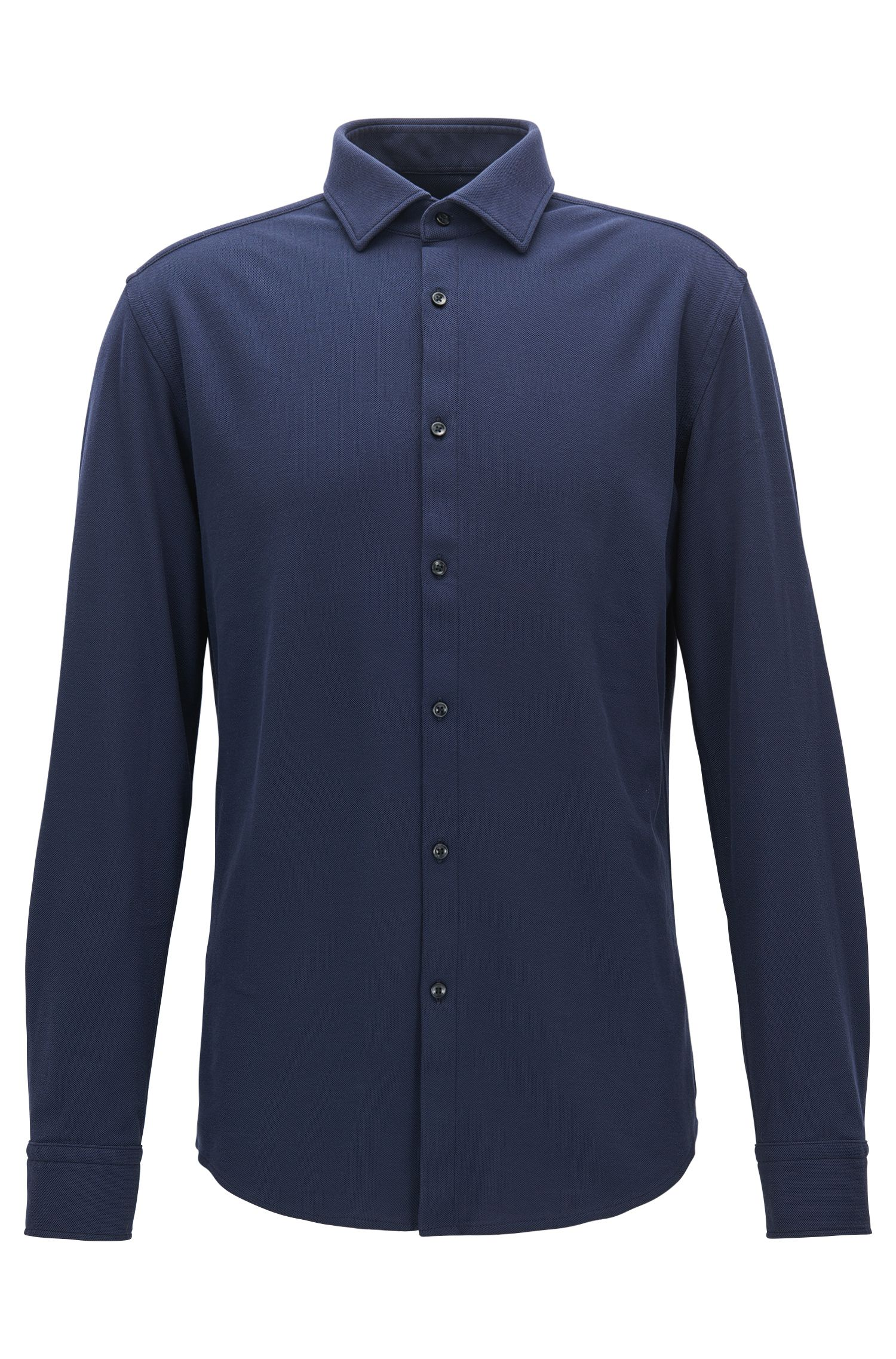 Slim-fit shirt in cotton jersey