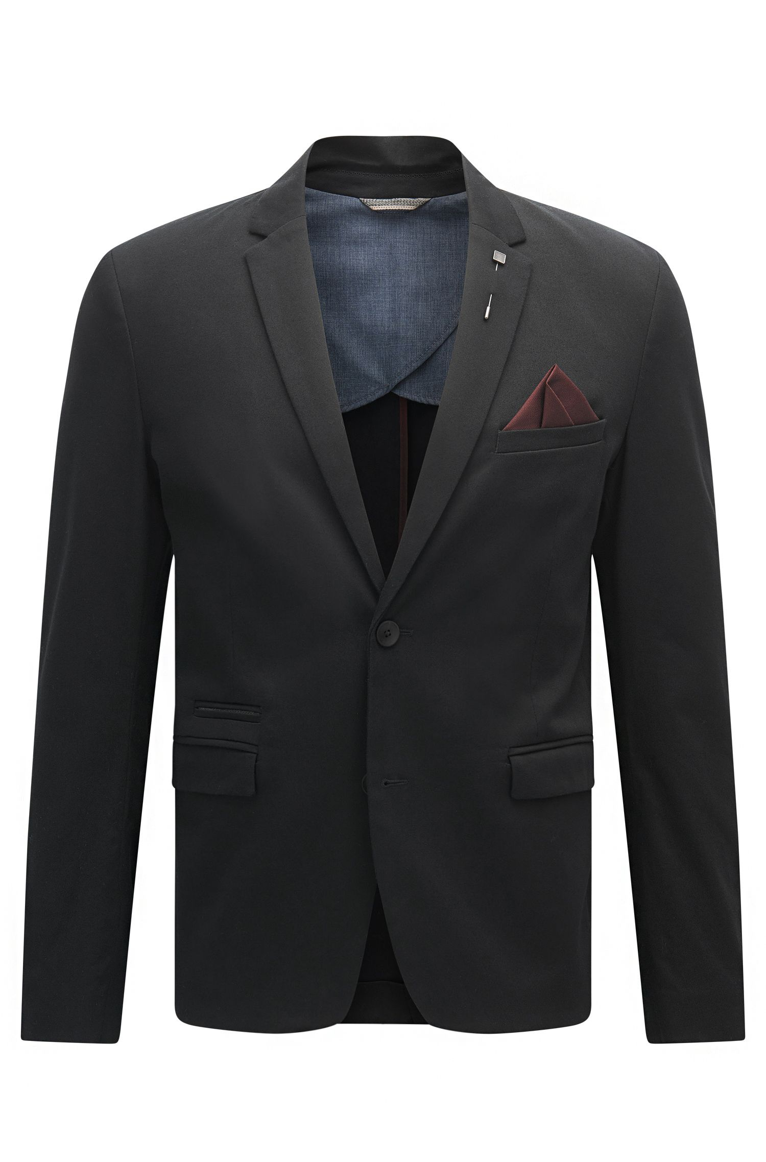 Slim-fit jacket in stretch cotton