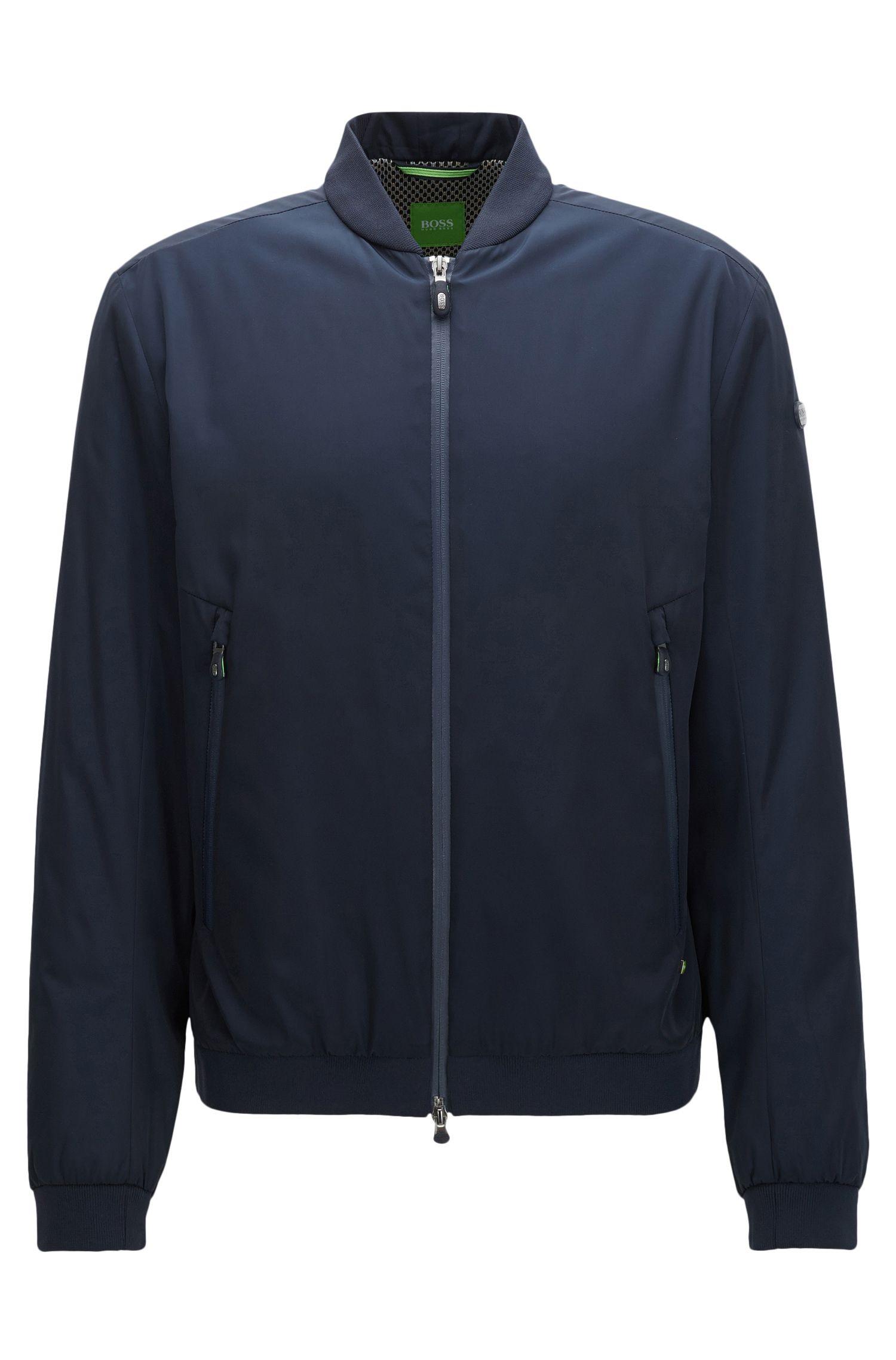 Regular-fit jas van technisch materiaal