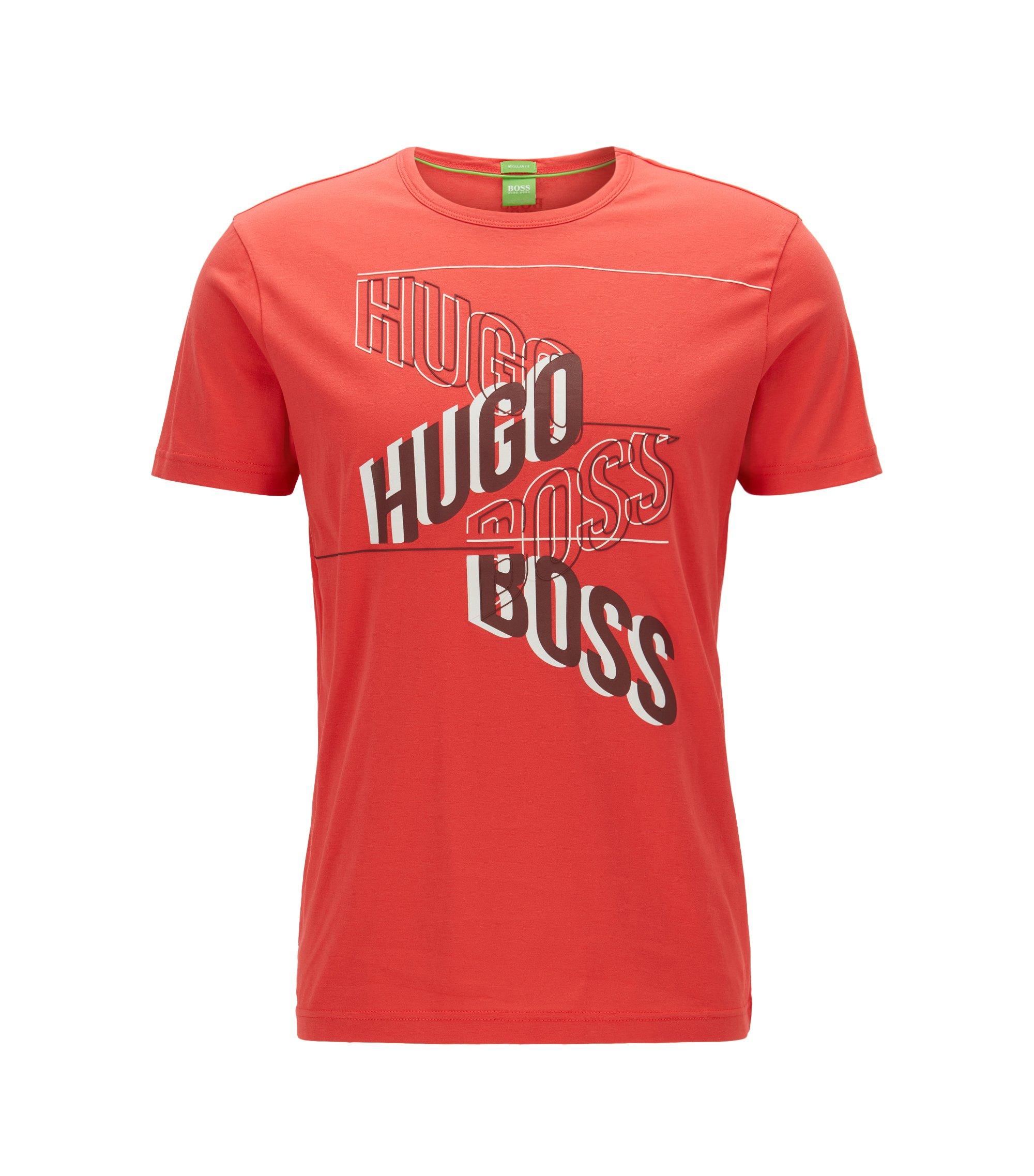 Regular-Fit T-Shirt aus Single Jersey mit Print, Rot