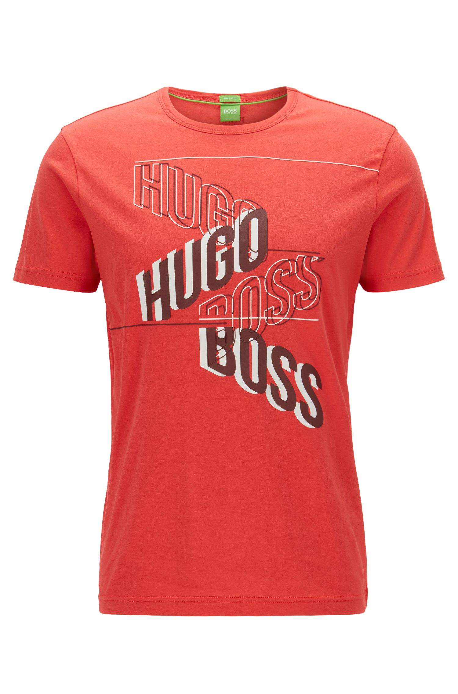 Camiseta regular fit estampada en punto sencillo