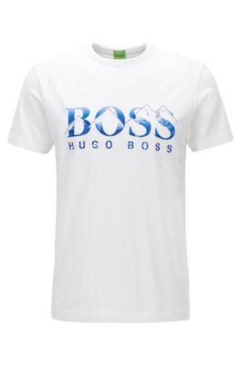 T-shirt regular fit in jersey singolo, Bianco