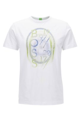 T-shirt regular fit in jersey, Bianco