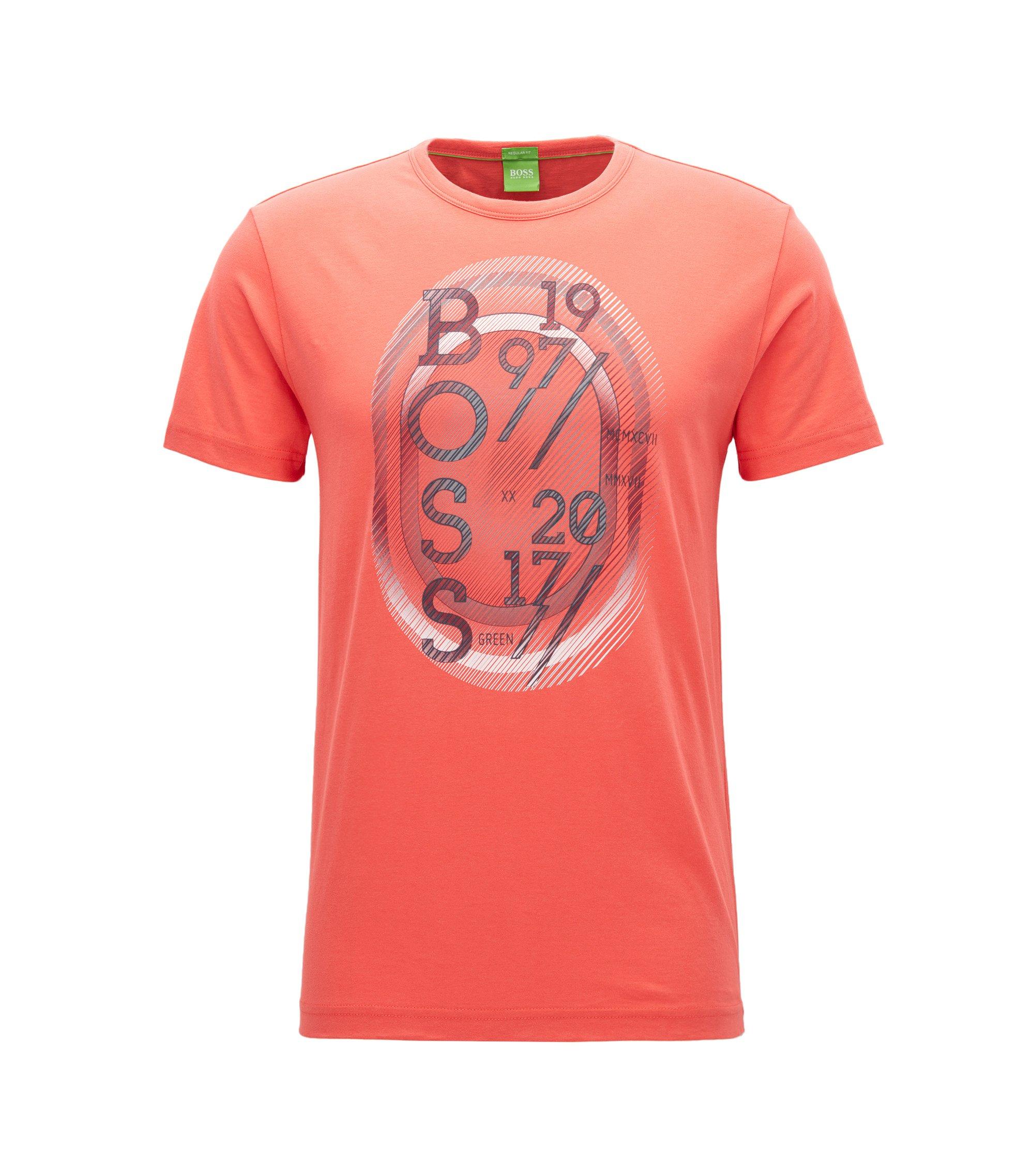Regular-fit T-shirt van singlejersey, Donkerroze