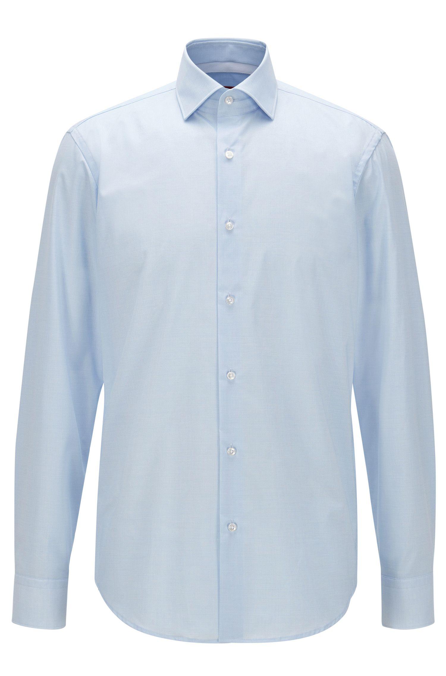 Camisa regular fit en algodón a cuadros