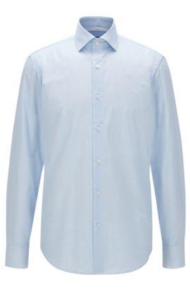 Regular-fit overhemd van geruite katoen, Lichtblauw