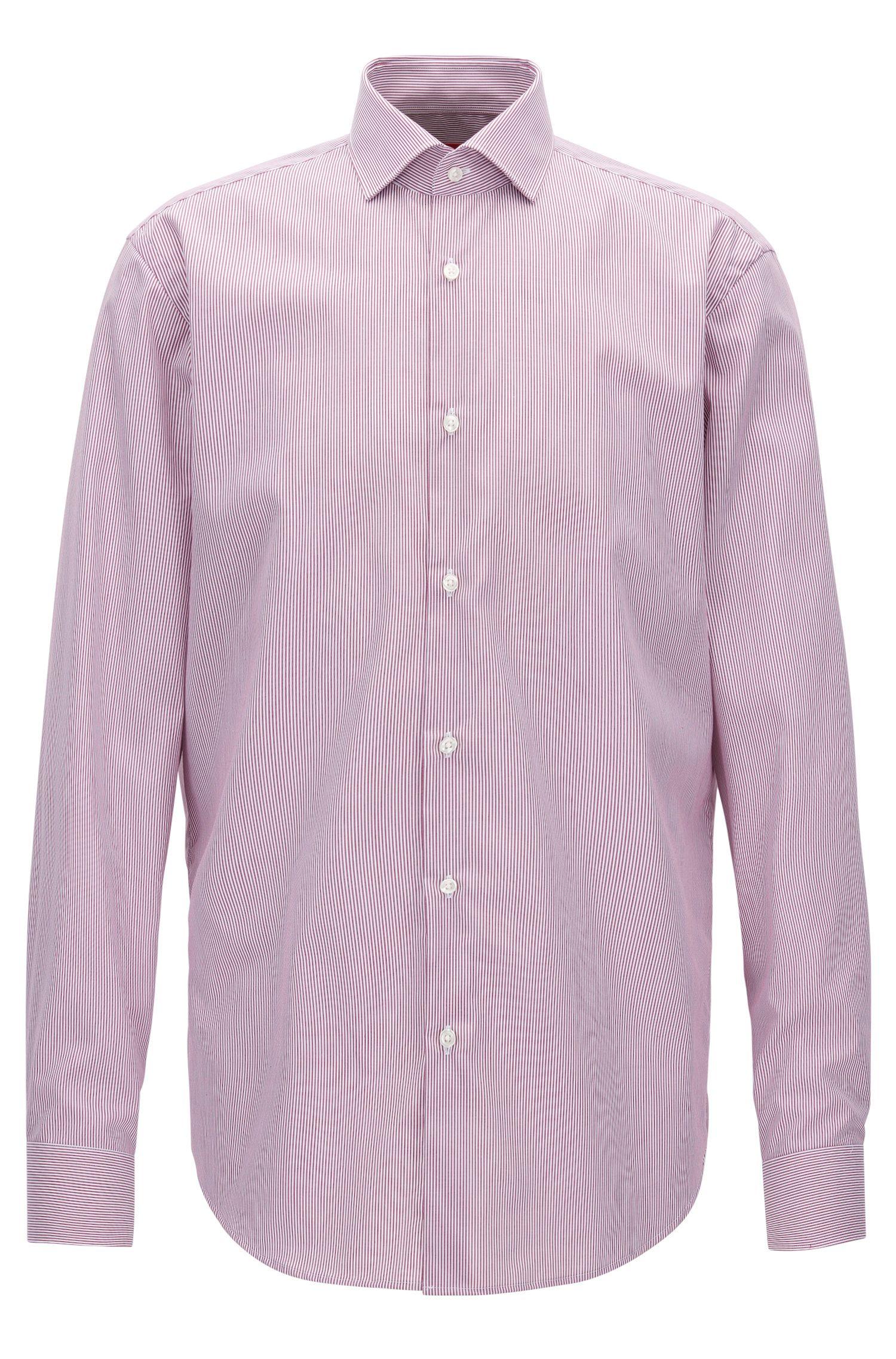 Chemise Regular Fit en coton à rayures