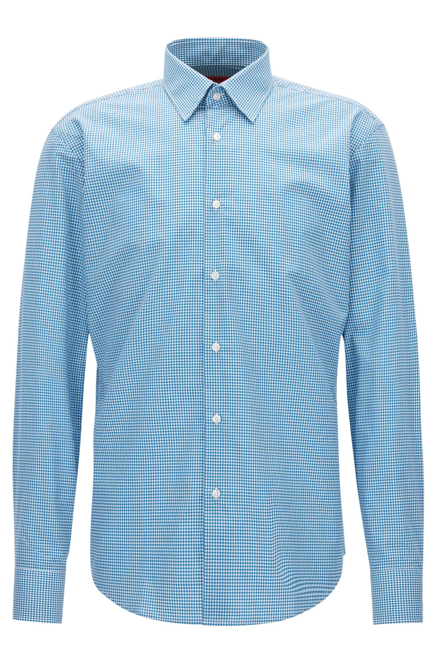 Camicia regular fit in cotone a quadri