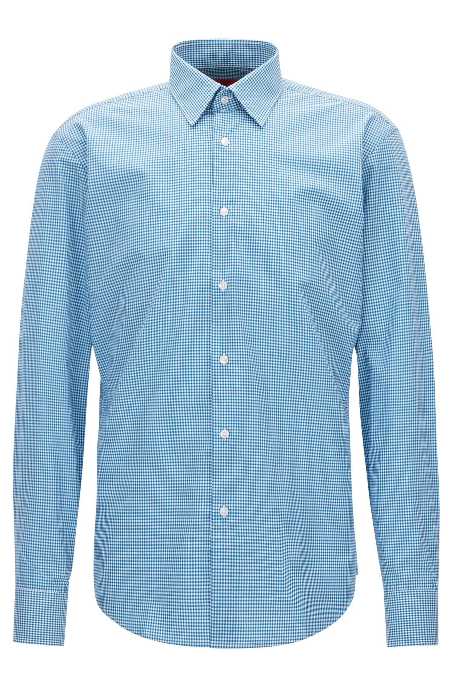 Camicia regular fit in cotone a quadri