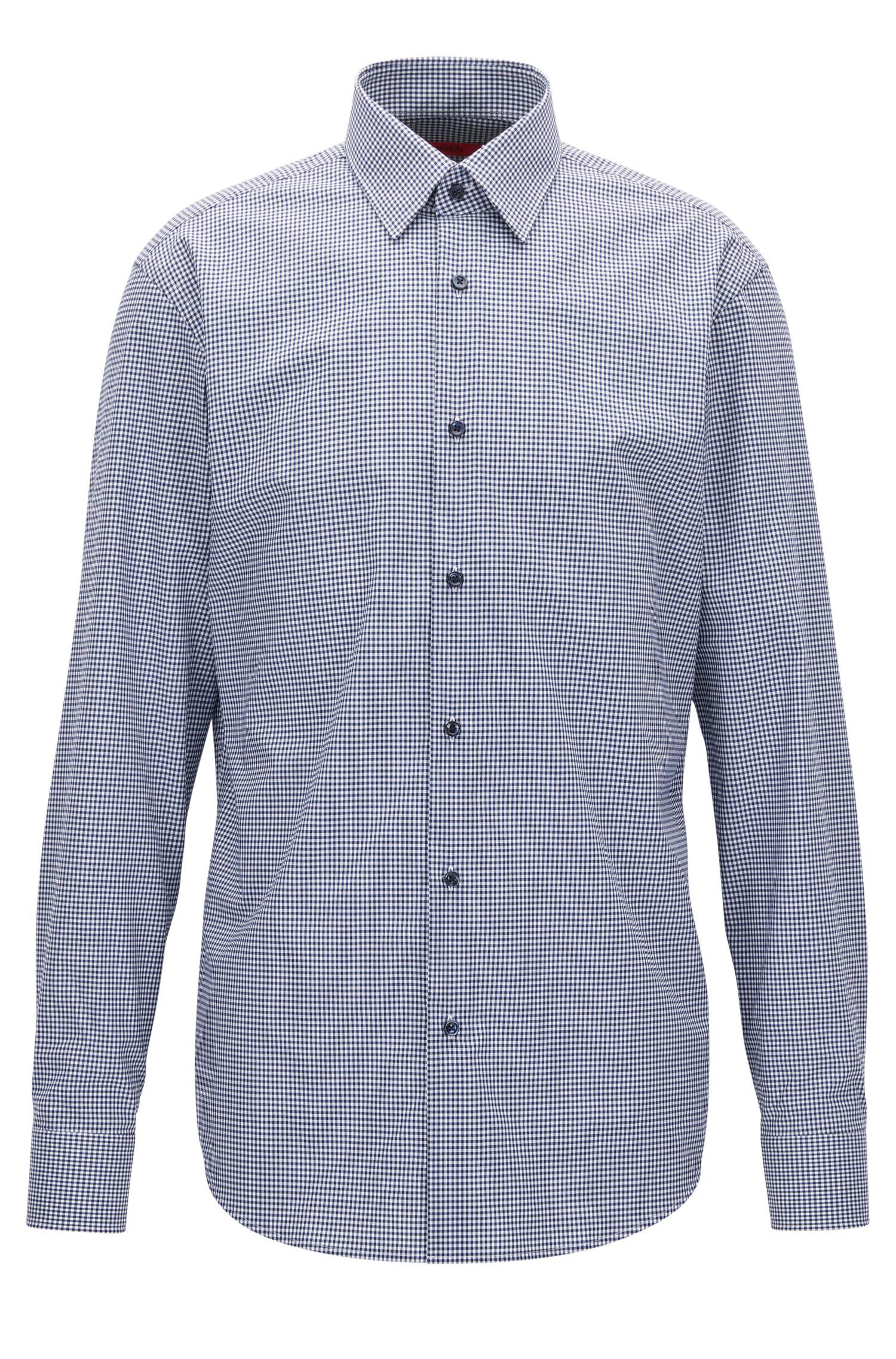 Regular-fit overhemd van geruite katoen