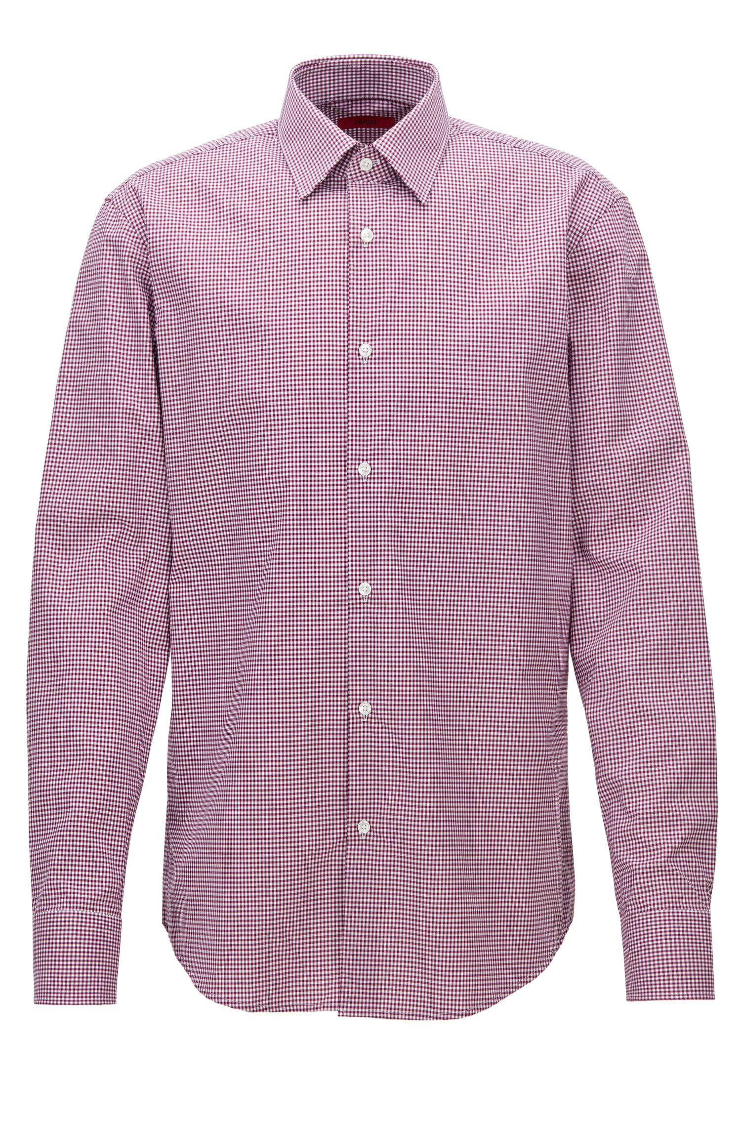 Regular-fit checked cotton shirt