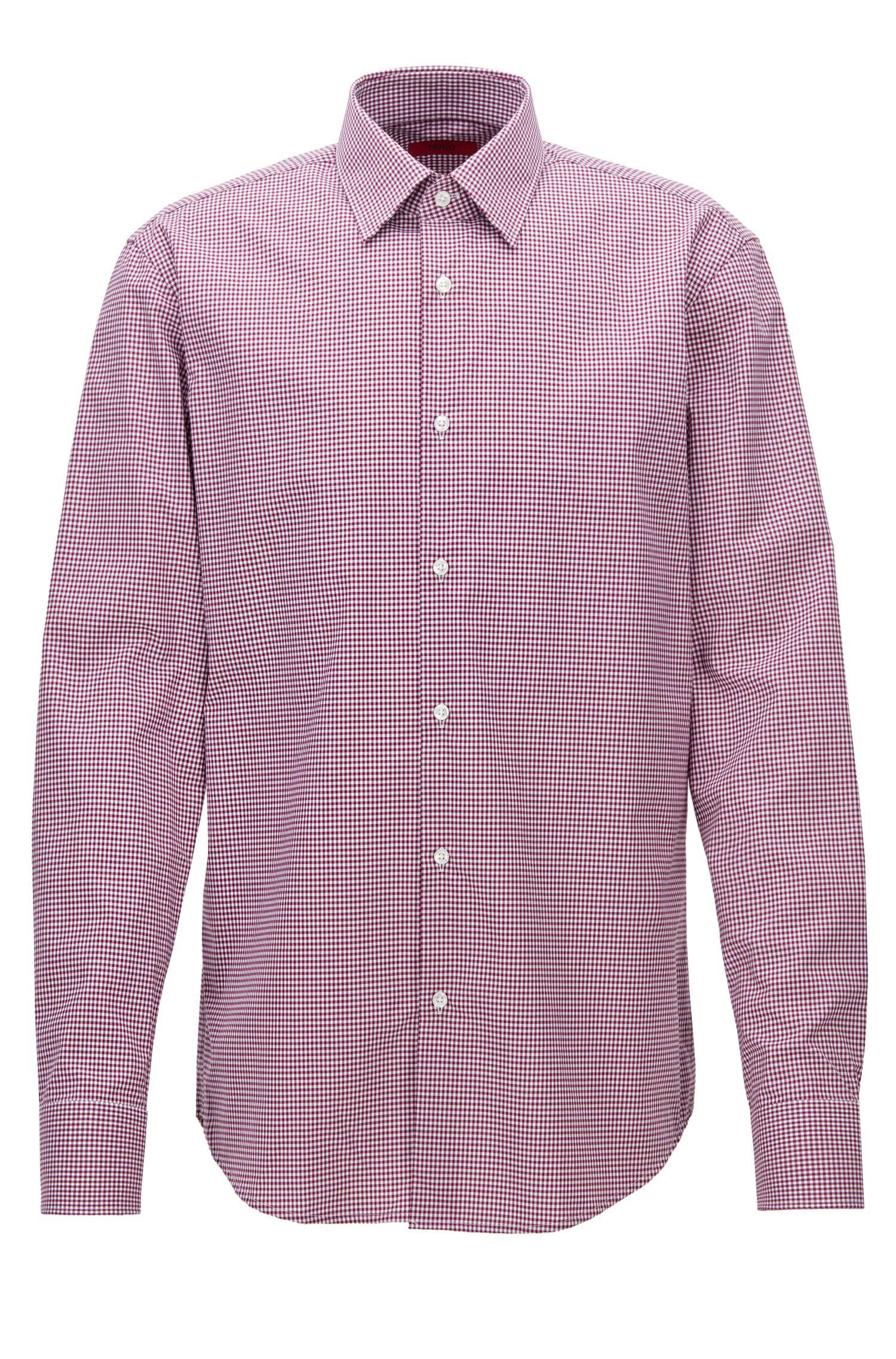 Chemise Regular Fit en coton à carreaux