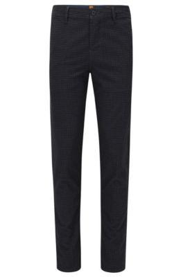 Tapered-Fit Hose aus elastischem Baumwoll-Mix, Dunkelblau